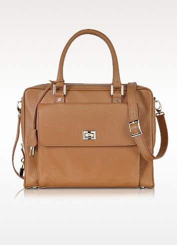 Light Brown Leather Business Folio - Buti