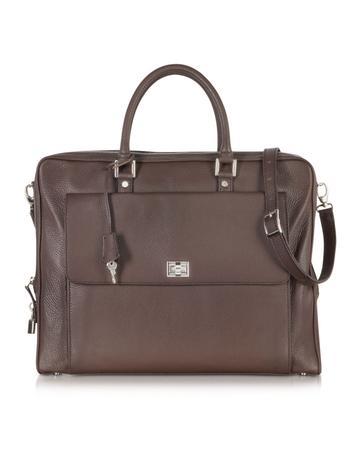 Dark Brown Leather Business Folio