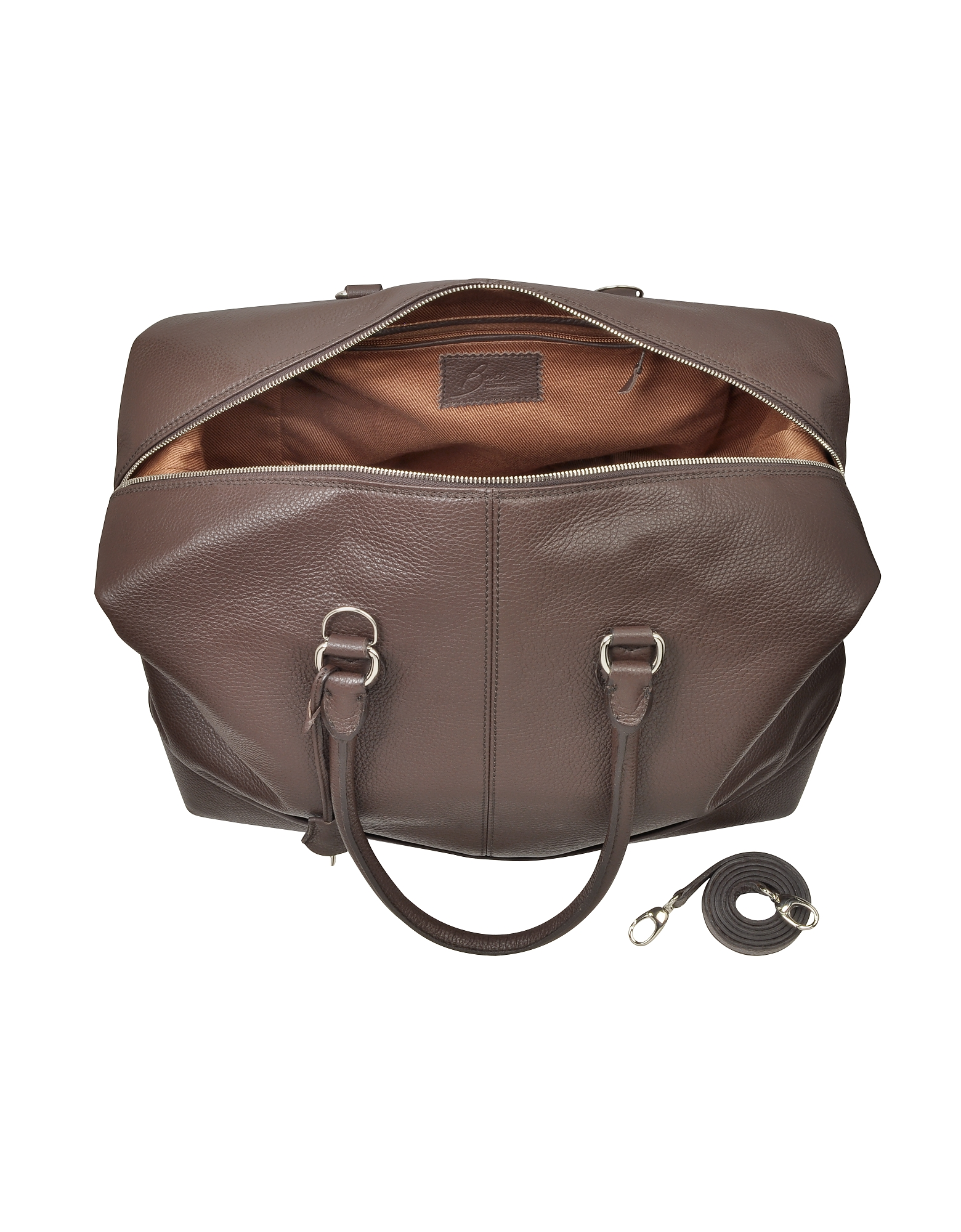 Dark Brown Leather Weekender от Forzieri.com INT
