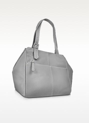 Pebbled Calf Leather Tote Handbag - Buti