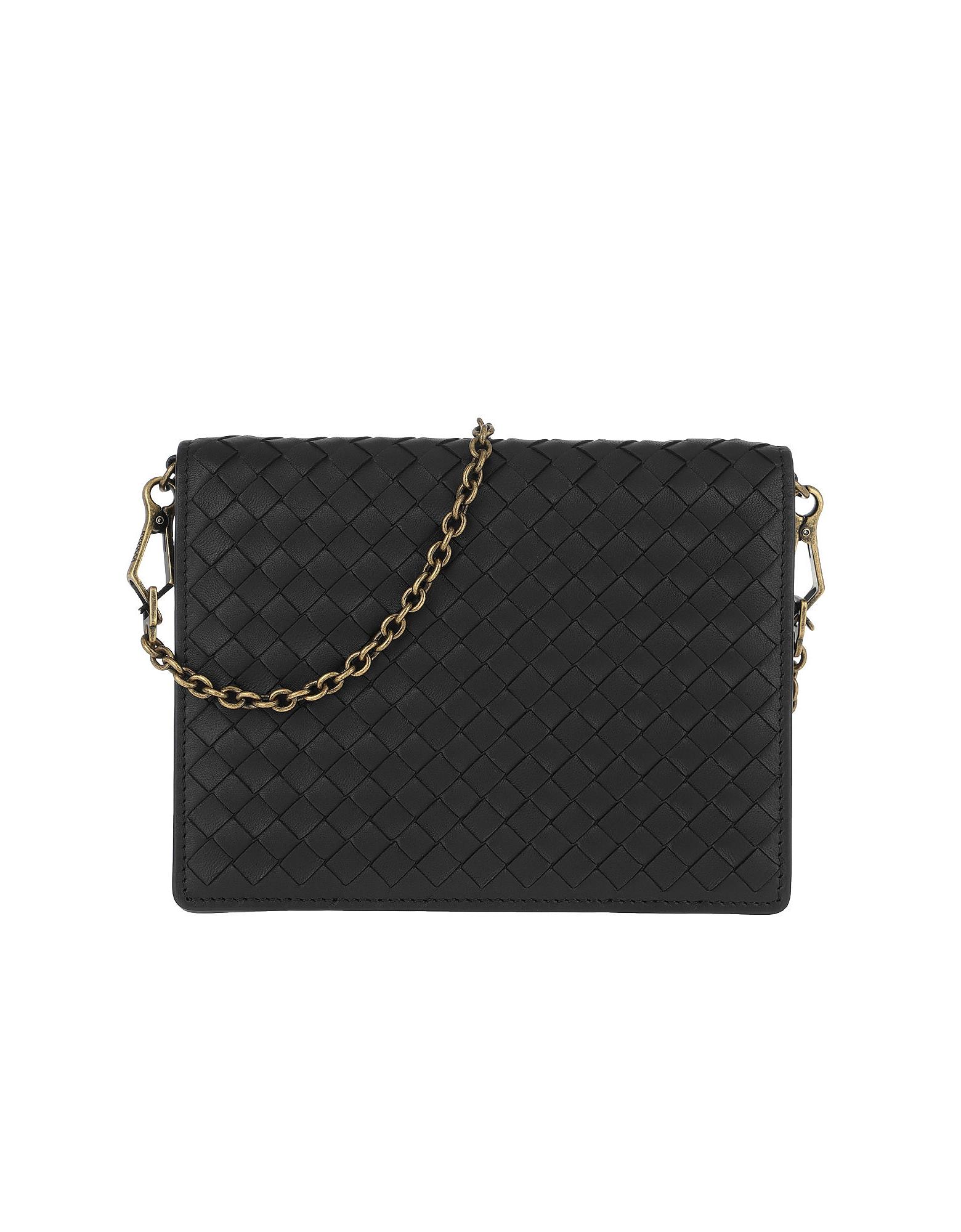 Intrecciato Chain Wallet Nappa Leather Black