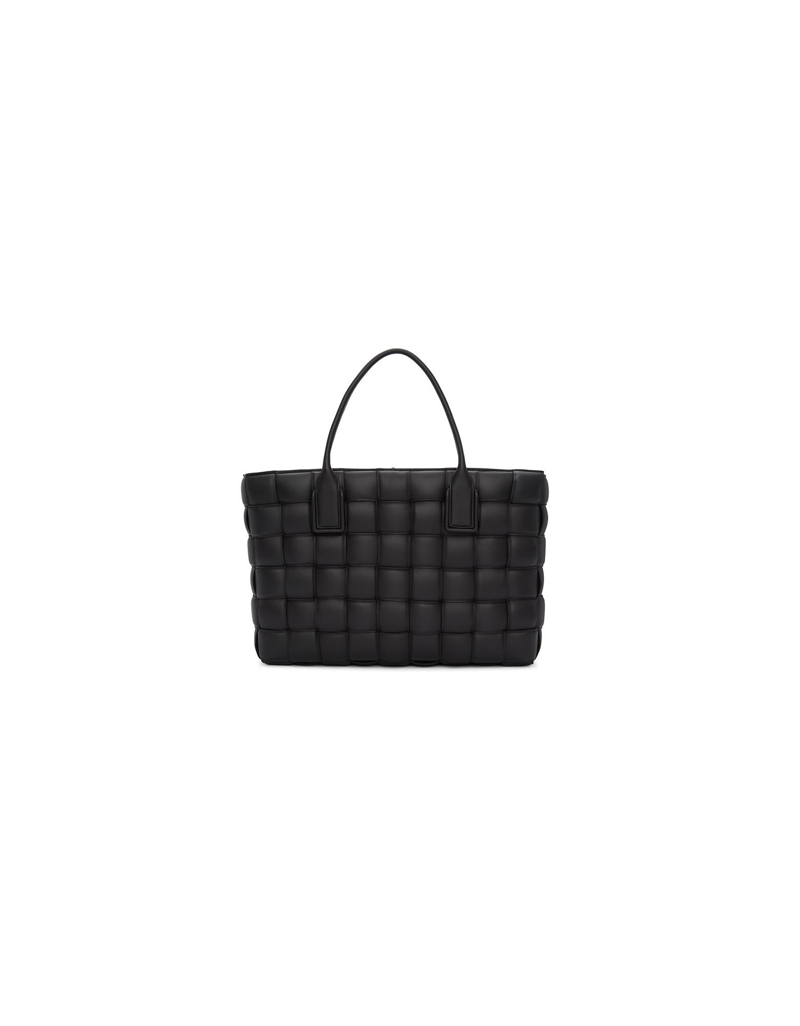 Bottega Veneta Designer Handbags, Black Large Maxi Intrecciato Tote