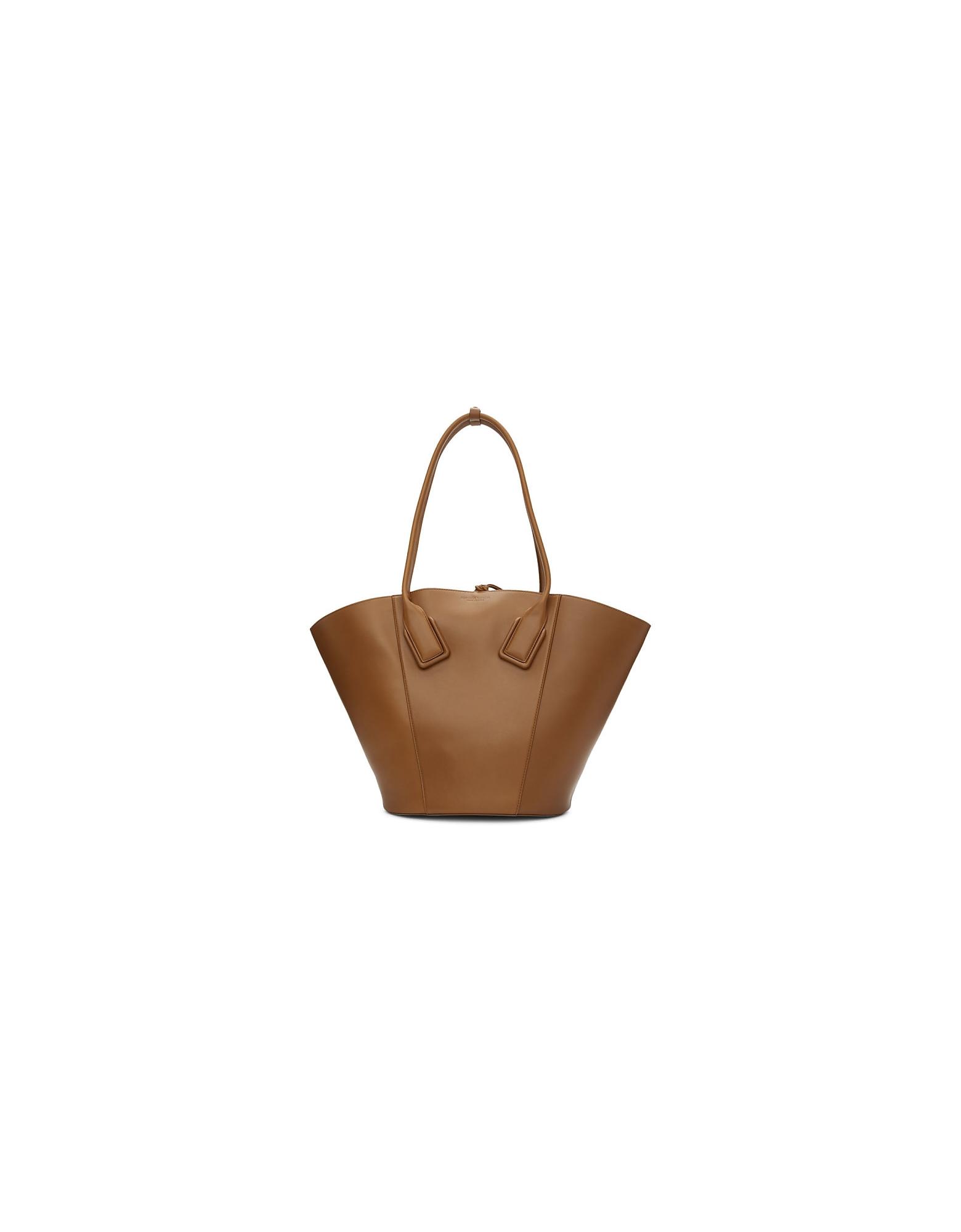 Bottega Veneta Designer Handbags, Brown Medium Basket Tote