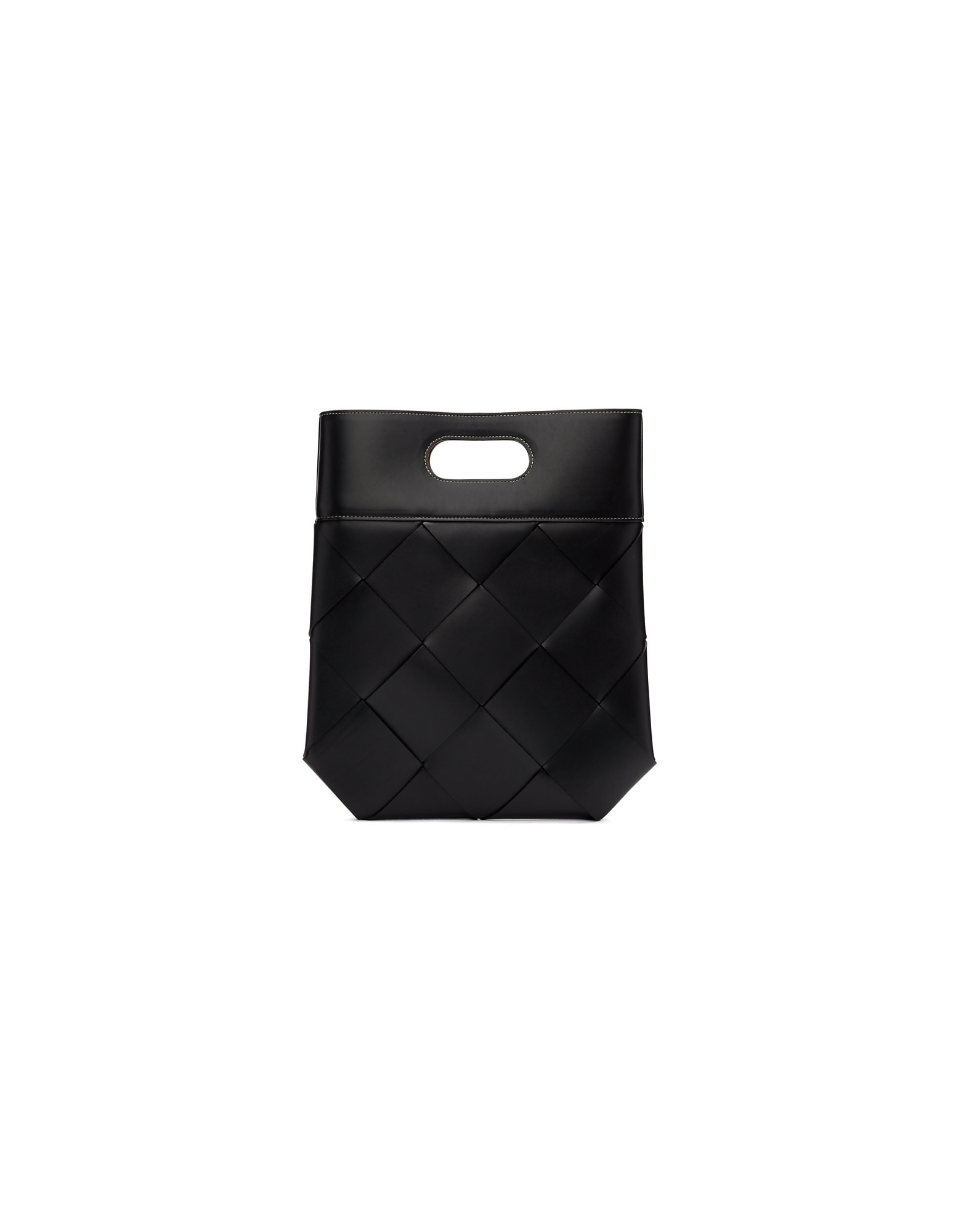 Bottega Veneta Designer Handbags, Black Small Slip Tote