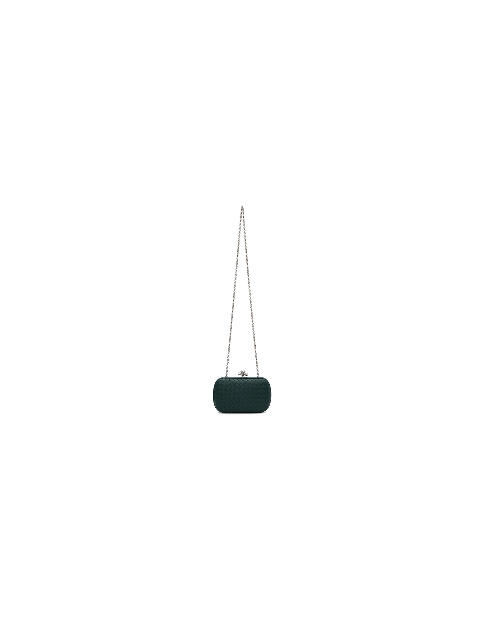 Bottega Veneta Designer Handbags, Blue Chain Knot Clutch