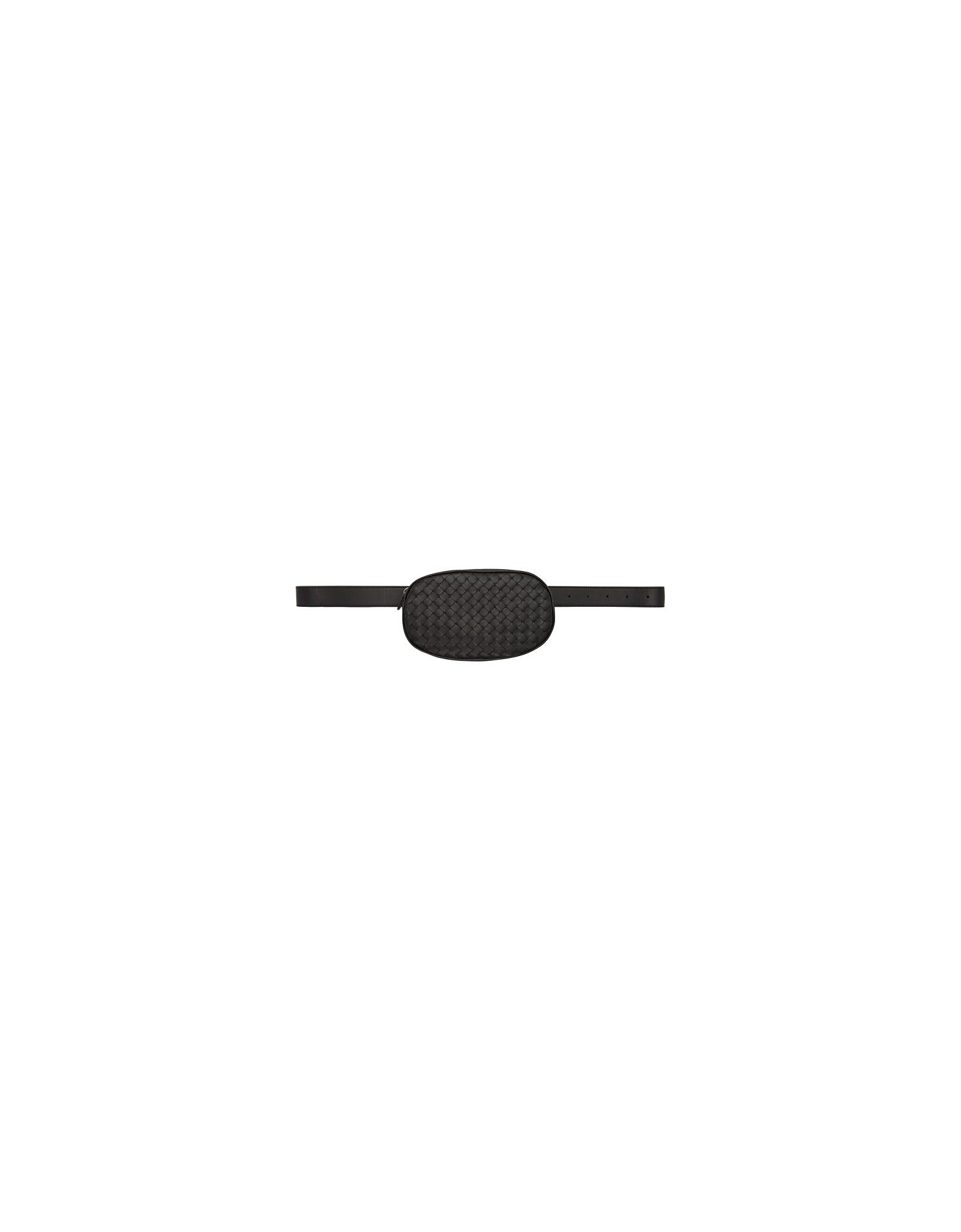 Bottega Veneta Designer Handbags, Black Intrecciato Belt Bag