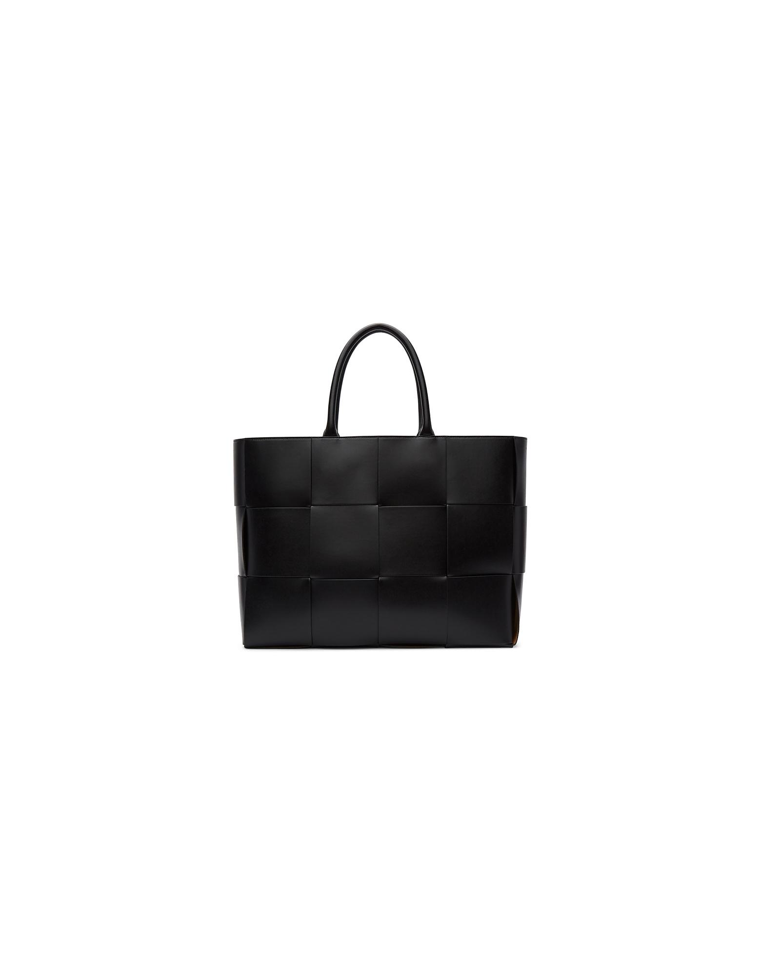 Bottega Veneta Designer Handbags, Black Leather Urban Tote