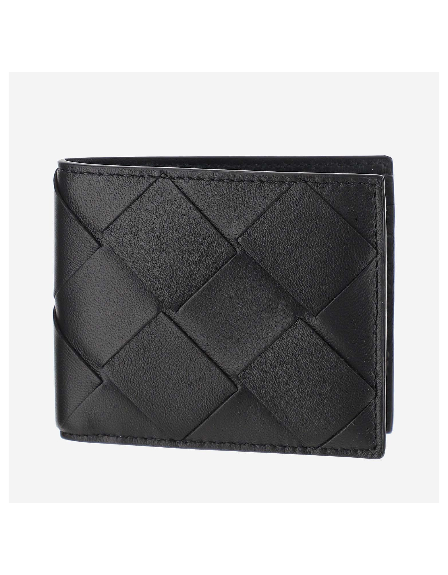 Bottega Veneta Designer Men's Bags, Black And Grey wallet