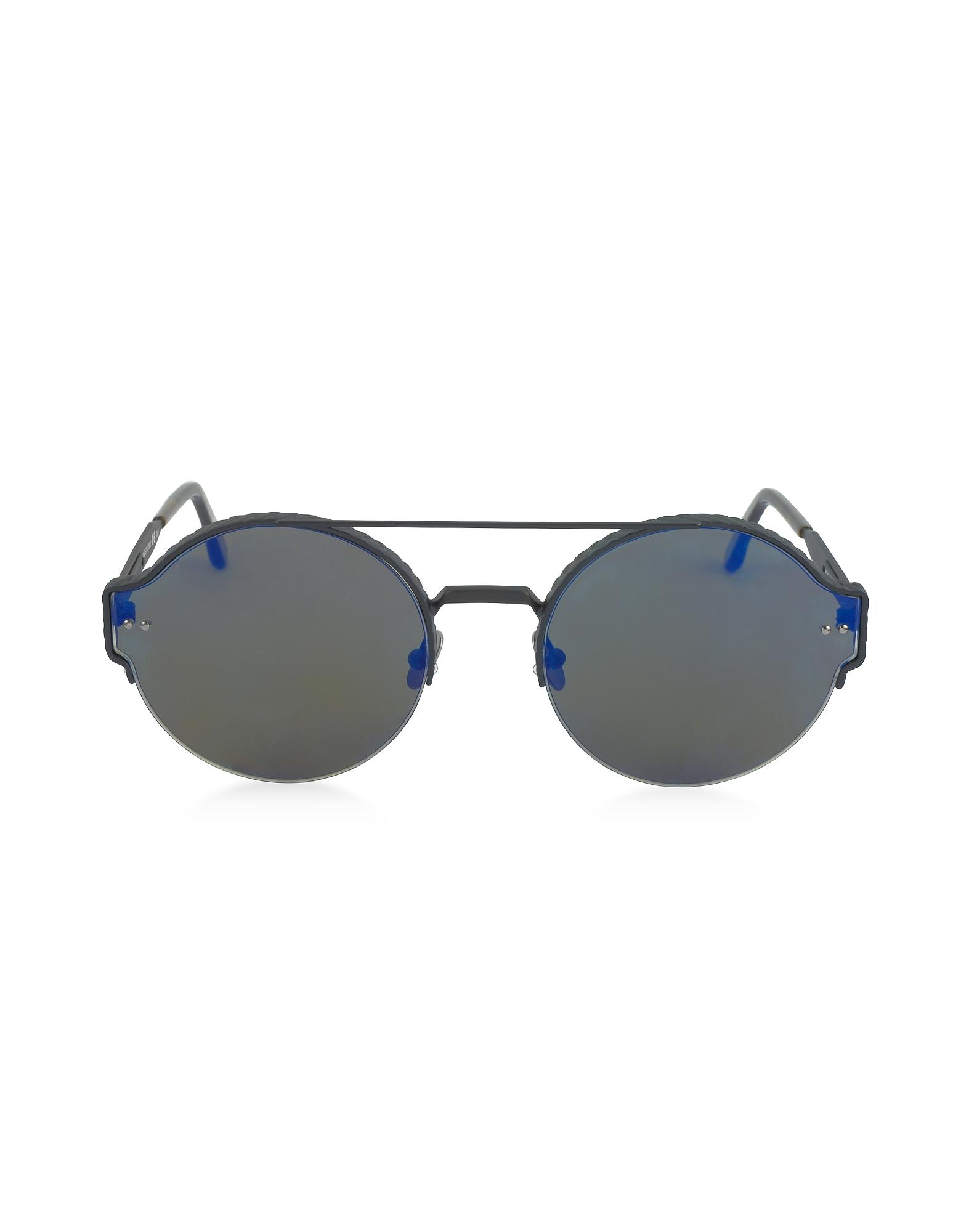 BV0013S - Солнечные Очки Унисекс в Круглой Металлической Оправе