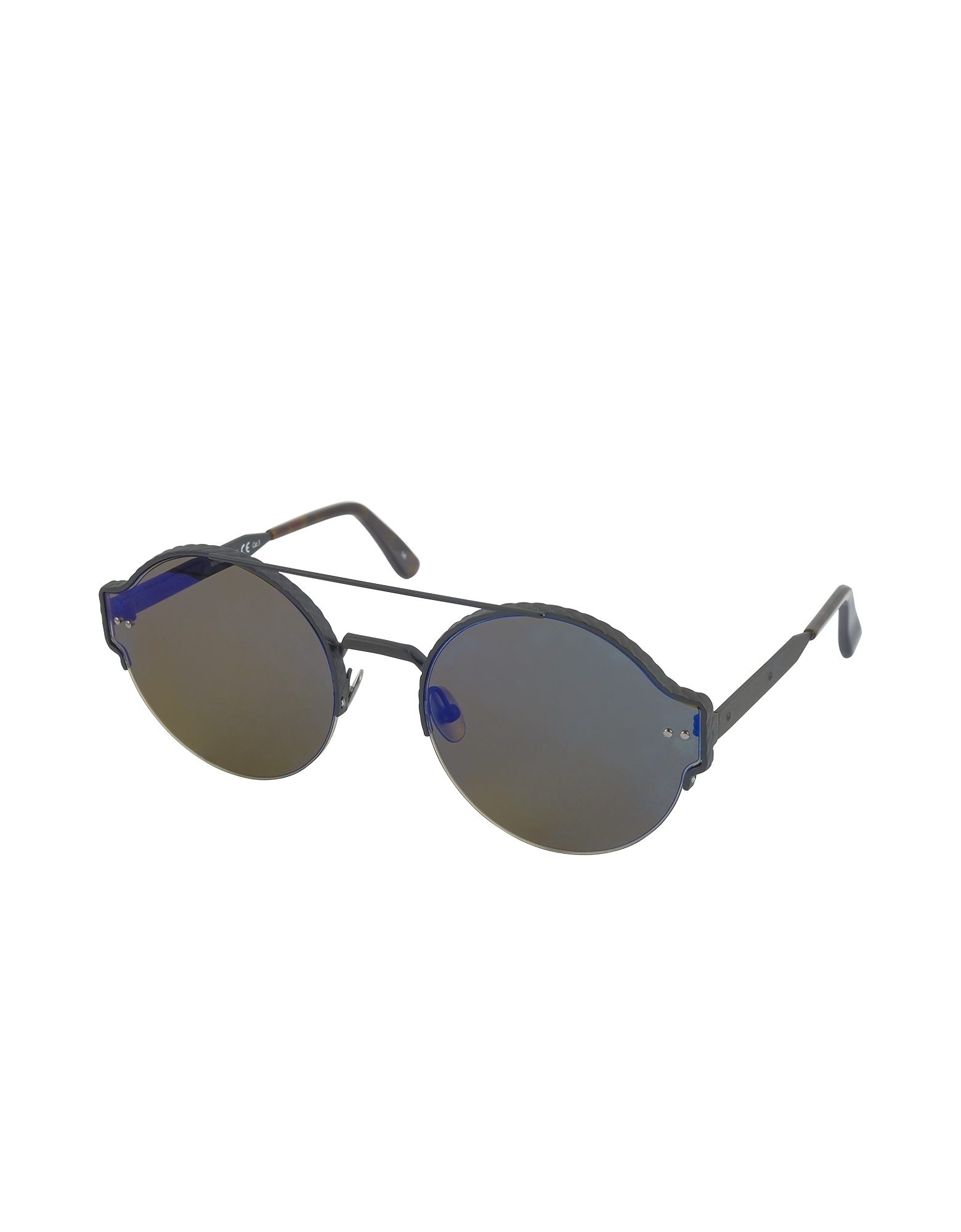 BV0013S Round Metal Frame Unisex Sunglasses от Forzieri.com INT