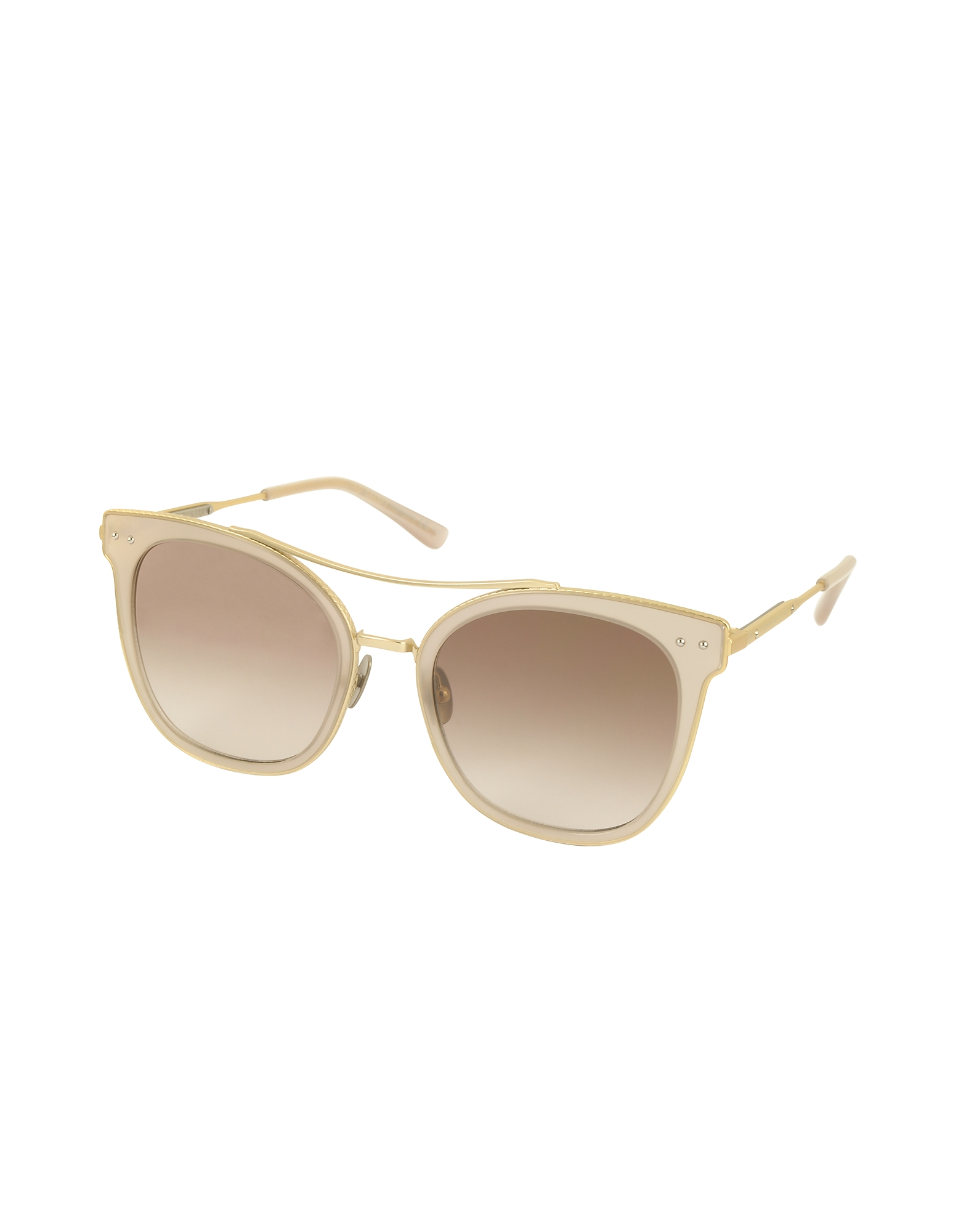 BV0064S Round Metal Frame Women's Sunglasses от Forzieri.com INT