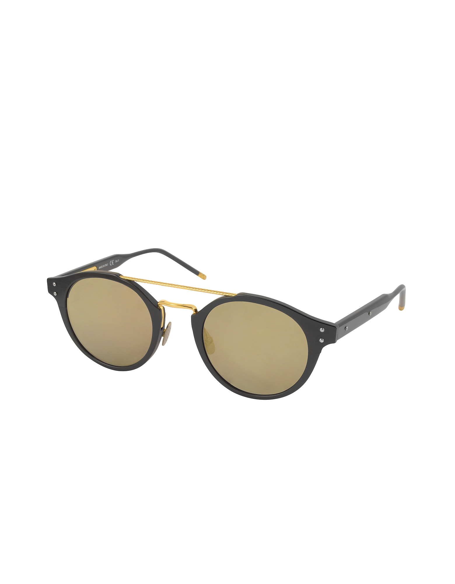 BV0078S Round Acetate and Metal Frame Unisex Sunglasses от Forzieri.com INT