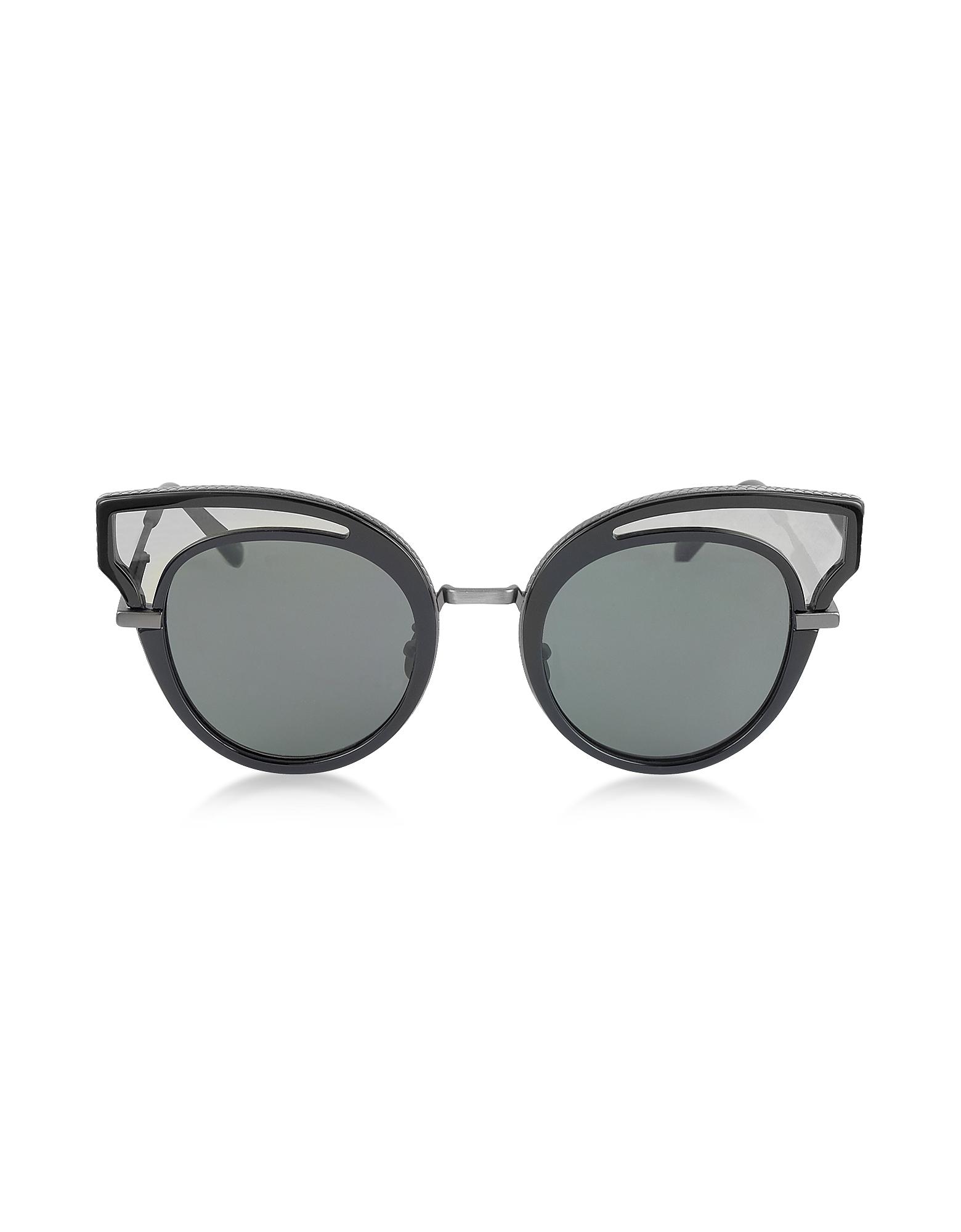 Bottega Veneta Designer Sunglasses, BV0094S Acetate Cat Eye Women's Sunglasses
