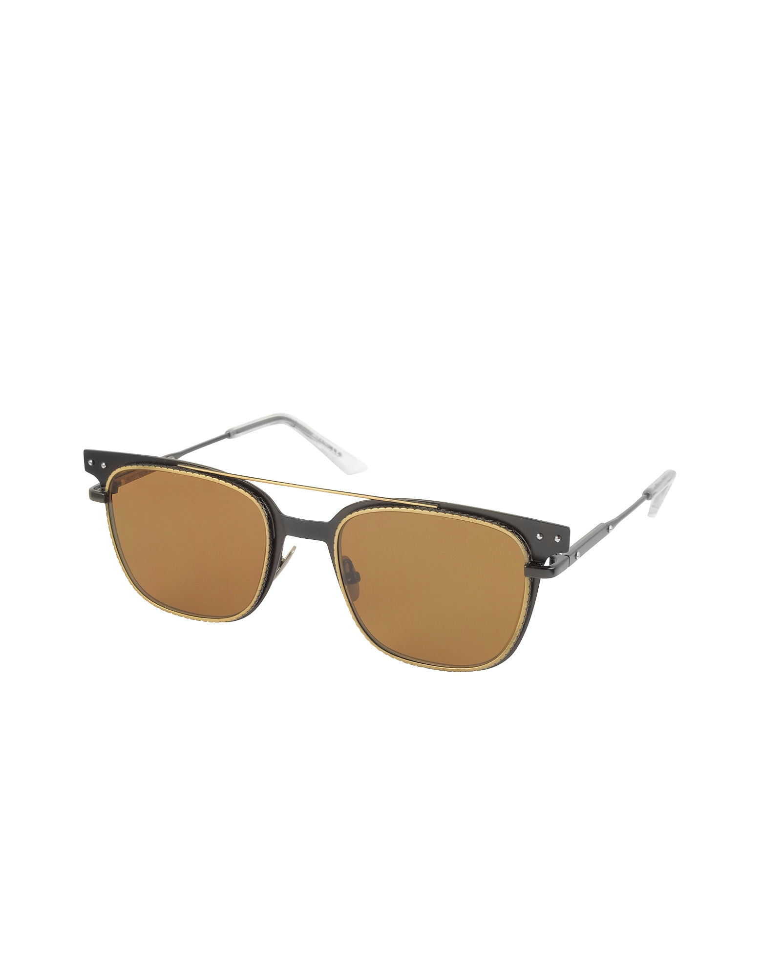 BV0095S 002 Black Metal Frame Men's Sunglasses от Forzieri.com INT
