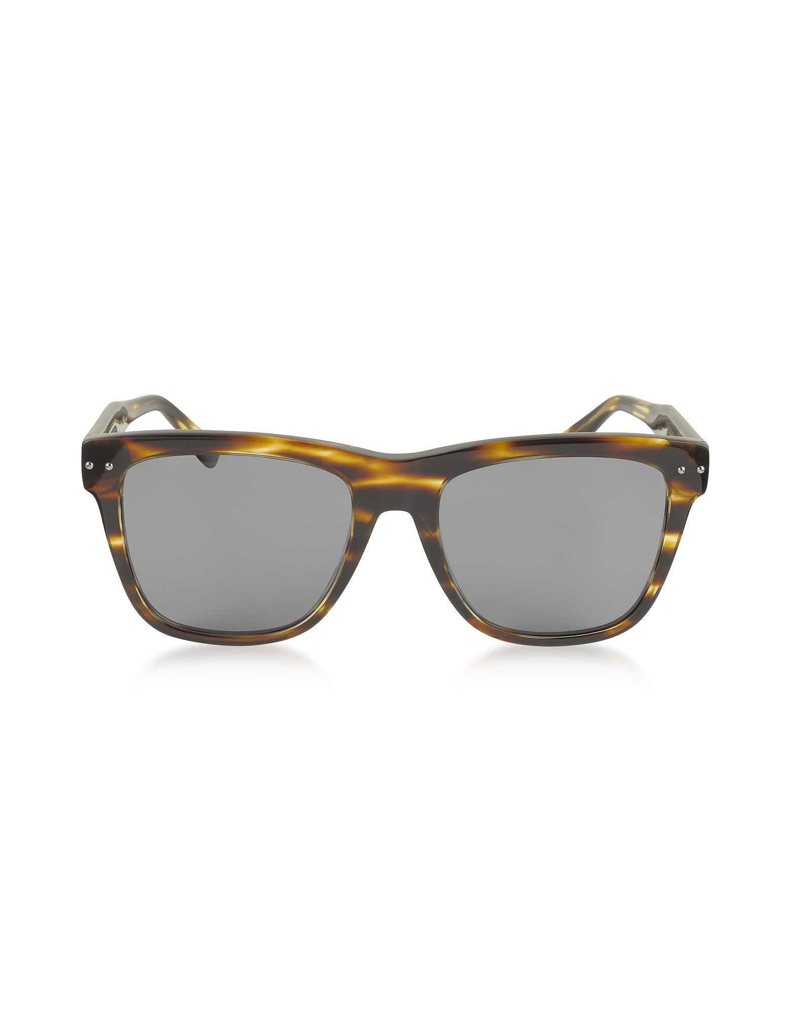 Bottega Veneta Sunglasses, BV0098S 002 Light Havana Acetate Frame Unisex Sunglasses