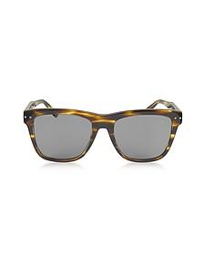 BV0098S 002 Light Havana Acetate Frame Unisex Sunglasses - Bottega Veneta