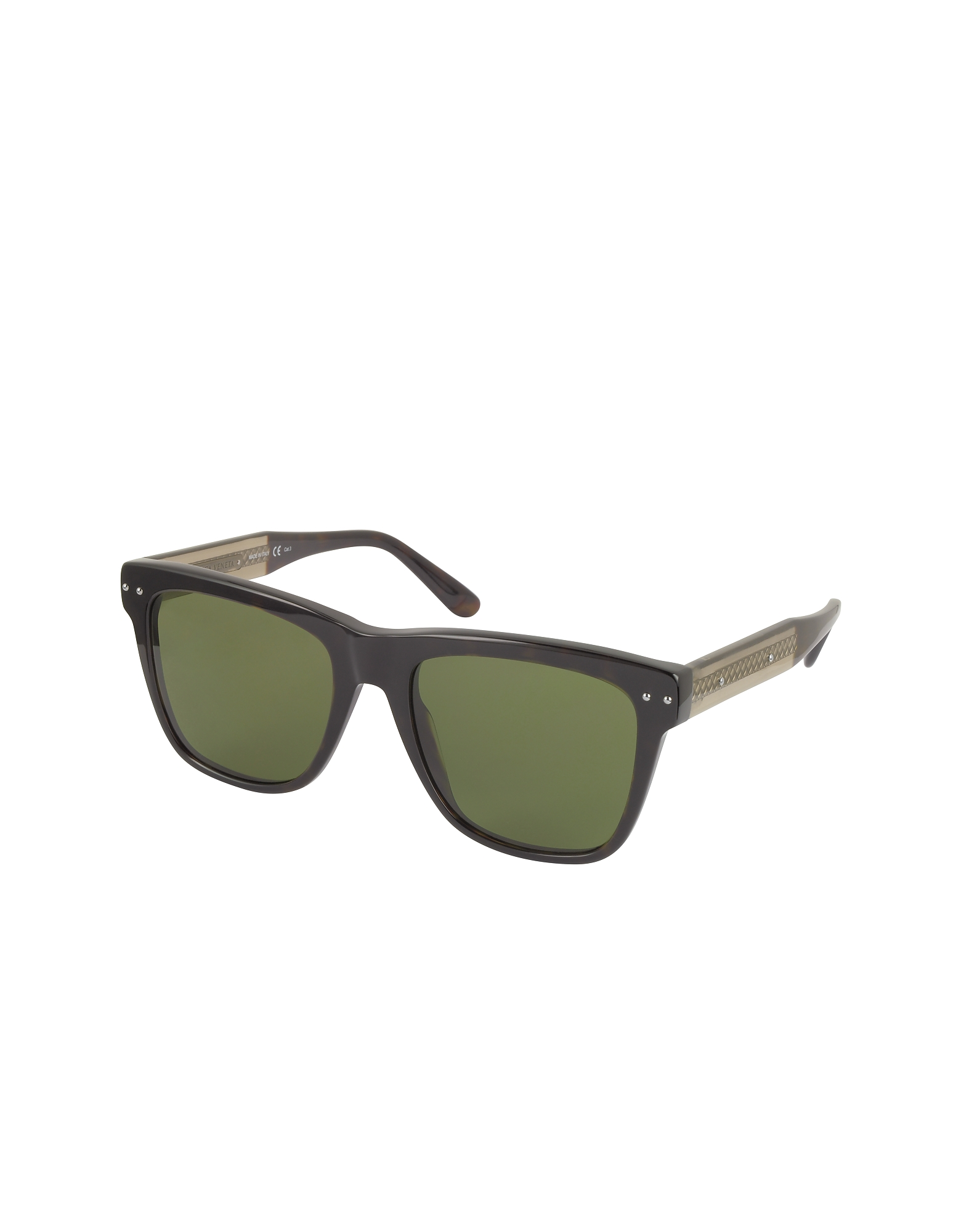 BV0098S 005 Light Havana Acetate Frame Unisex Sunglasses от Forzieri.com INT