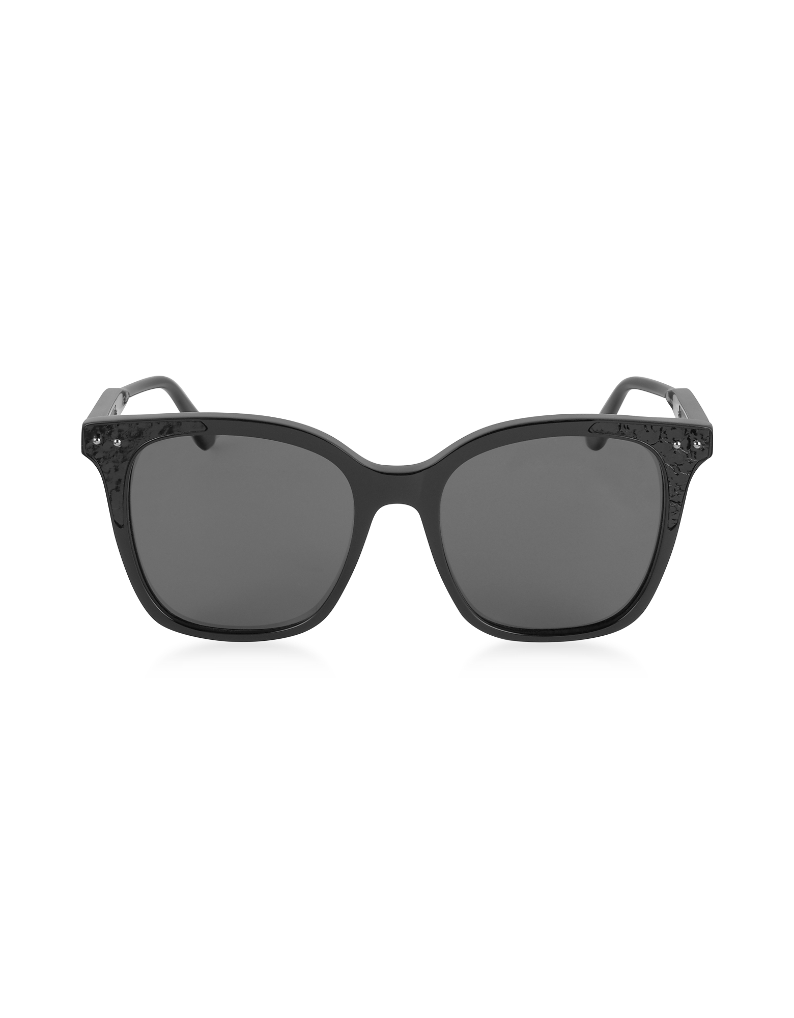 Bottega Veneta Designer Sunglasses, BV0118S 005 Black Acetate Frame Women's Polarized Sunglasses
