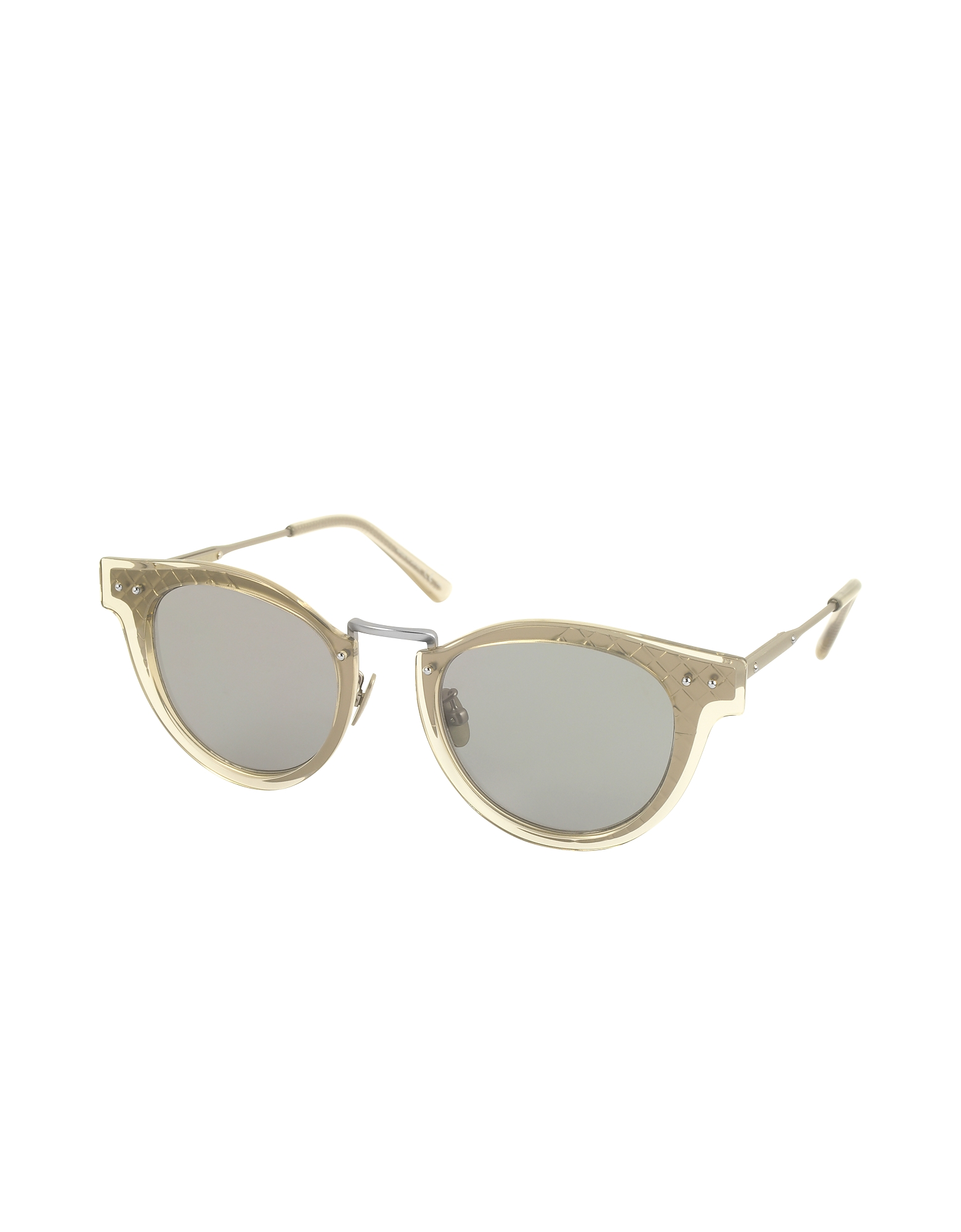 BV0117S 004 Ruthenium Metal Frame Unisex Sunglasses от Forzieri.com INT