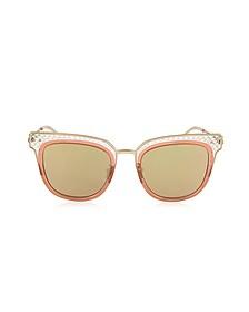 BV0122S Square Acetate Frame Women's Sunglasses - Bottega Veneta