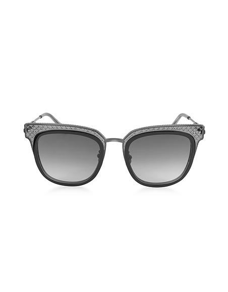 Bottega Veneta BV0122S Damen Sonnenbrille aus quadratischem Acetat