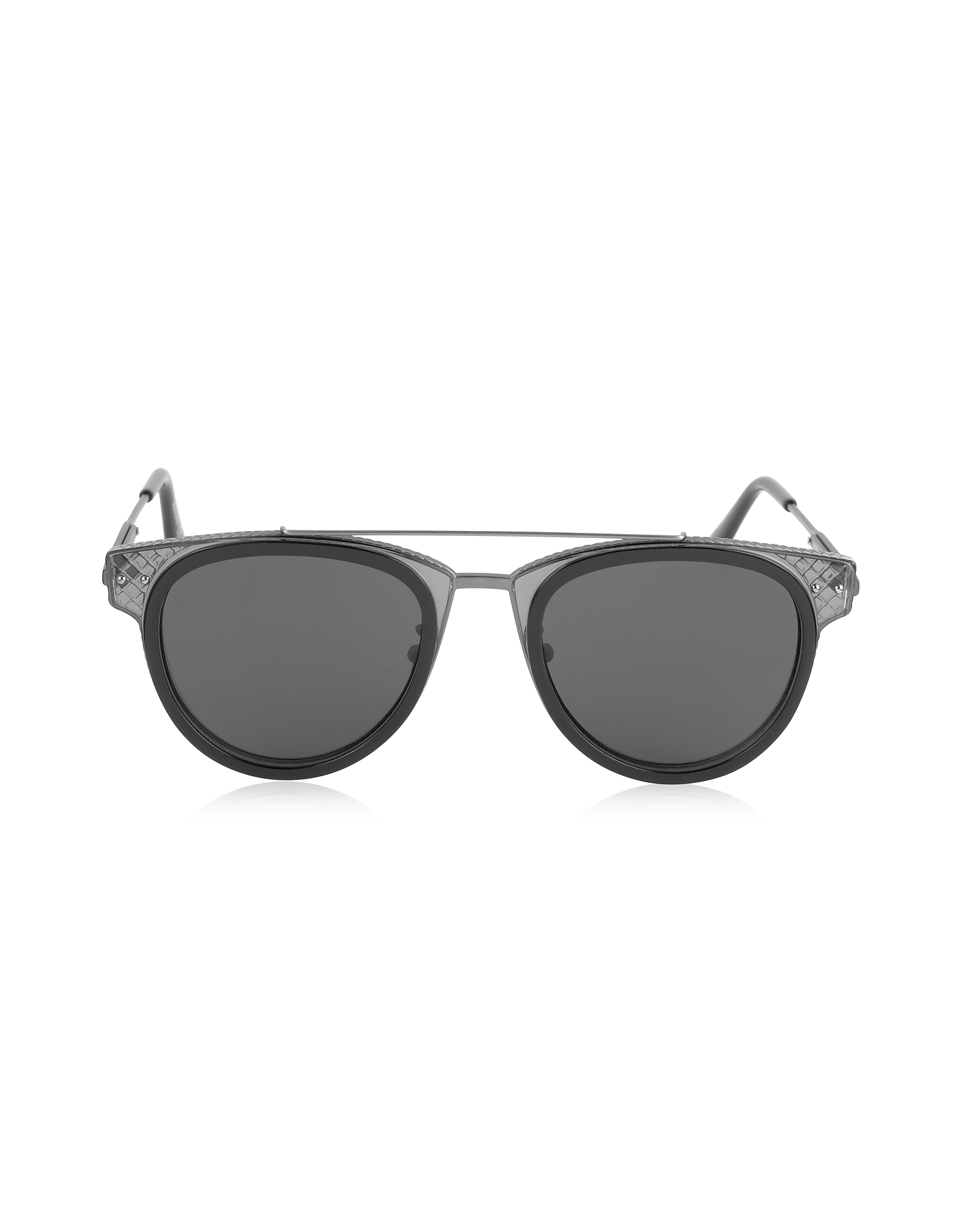 Bottega Veneta Sunglasses, BV0123S Round Metal and Acetate Unisex Sunglasses