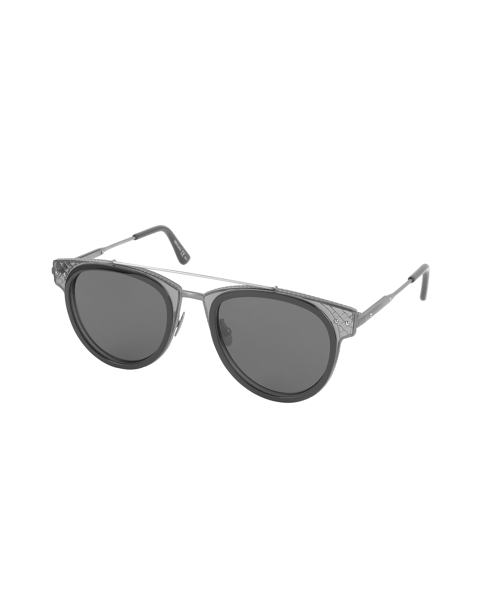 BV0123S Round Metal and Acetate Unisex Sunglasses от Forzieri.com INT