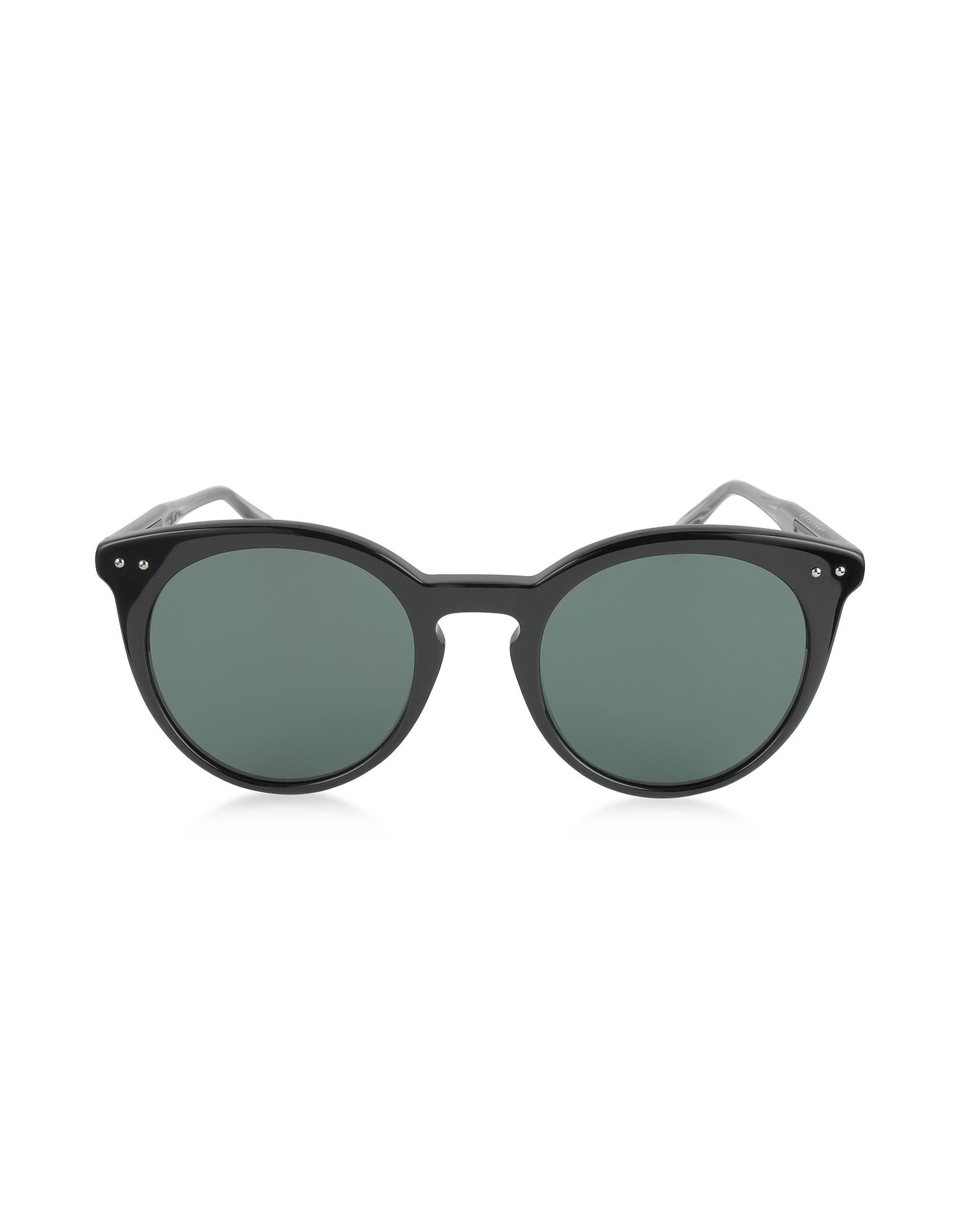 BV0096S - Женские Солнечные Очки в Круглой Оправе из Ацетата