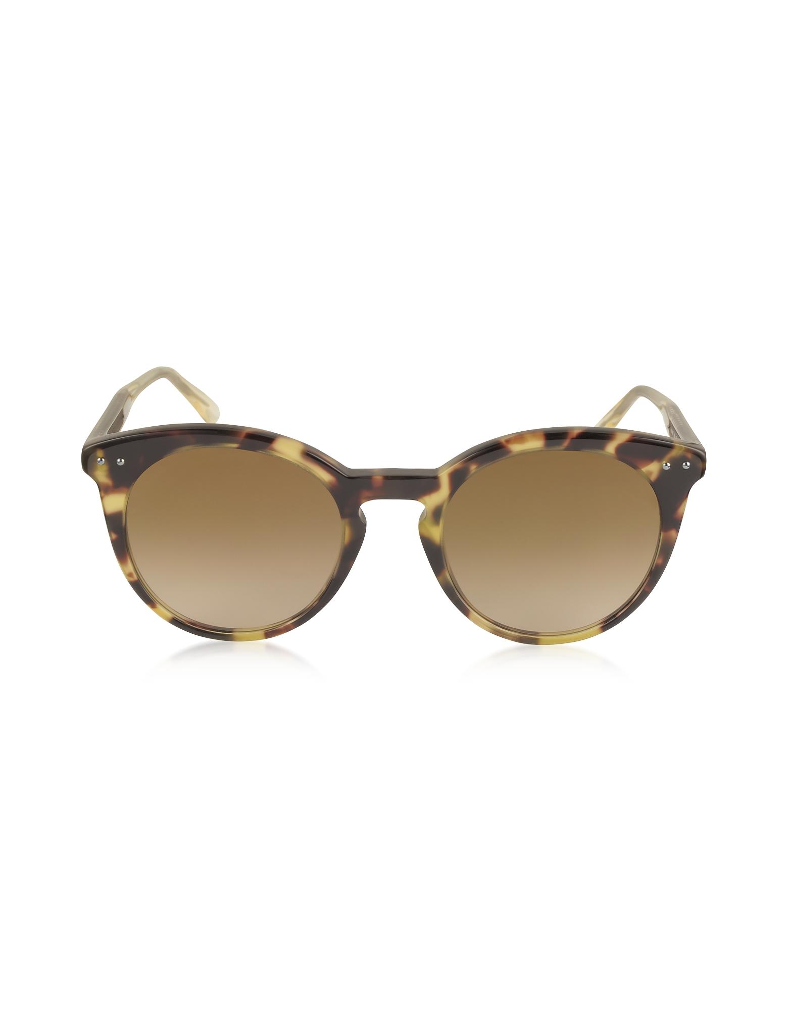 Bottega Veneta Sunglasses, BV0096S Round Acetate Women's Sunglasses