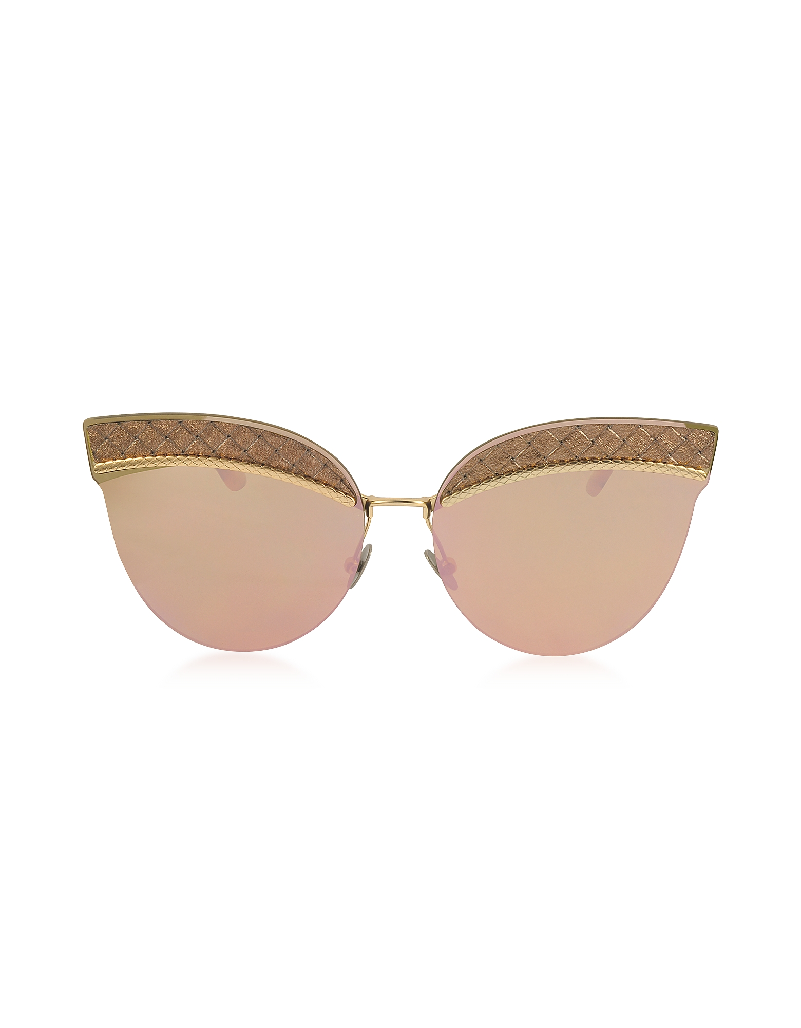 Bottega Veneta Designer Sunglasses, BV0101S Metal Cat-Eye Women's Sunglasses