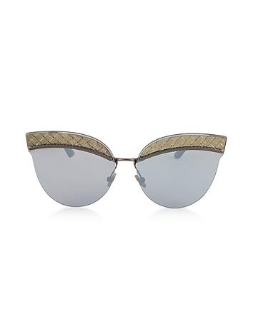 Bottega Veneta - BV0101S Metal Cat-Eye Women's Sunglasses