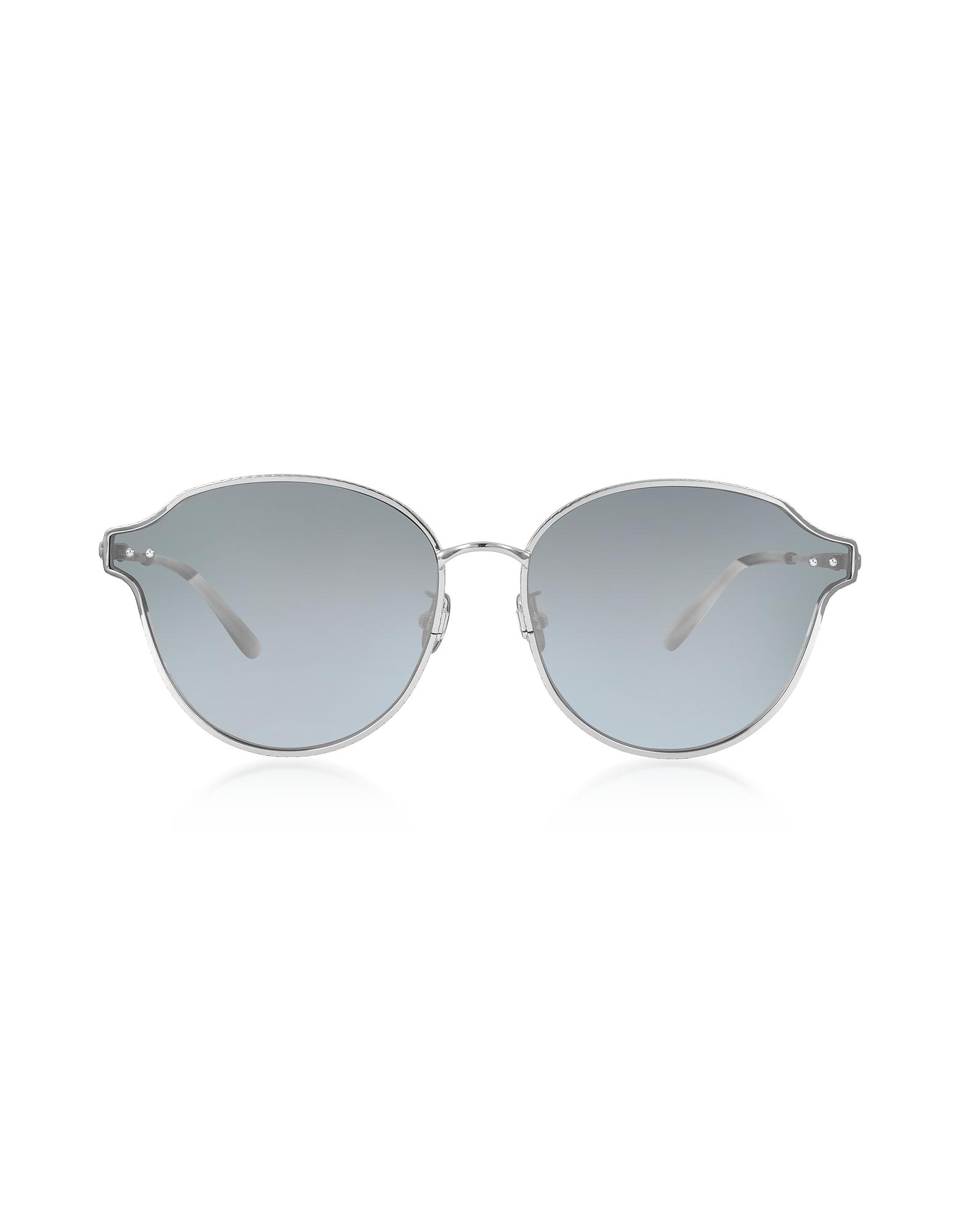 Bottega Veneta Sunglasses, BV0156SK Unisex Metal Sunglasses