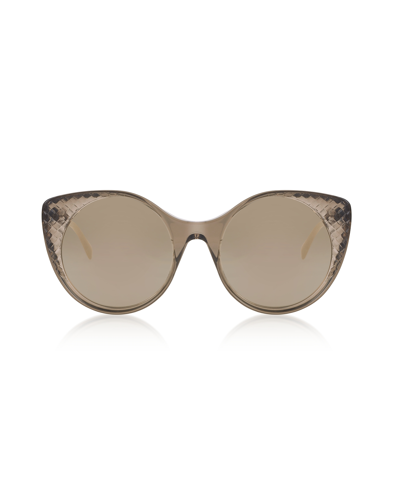 Bottega Veneta Sunglasses, BV0148S Transparent Brown Acetate Sunglasses