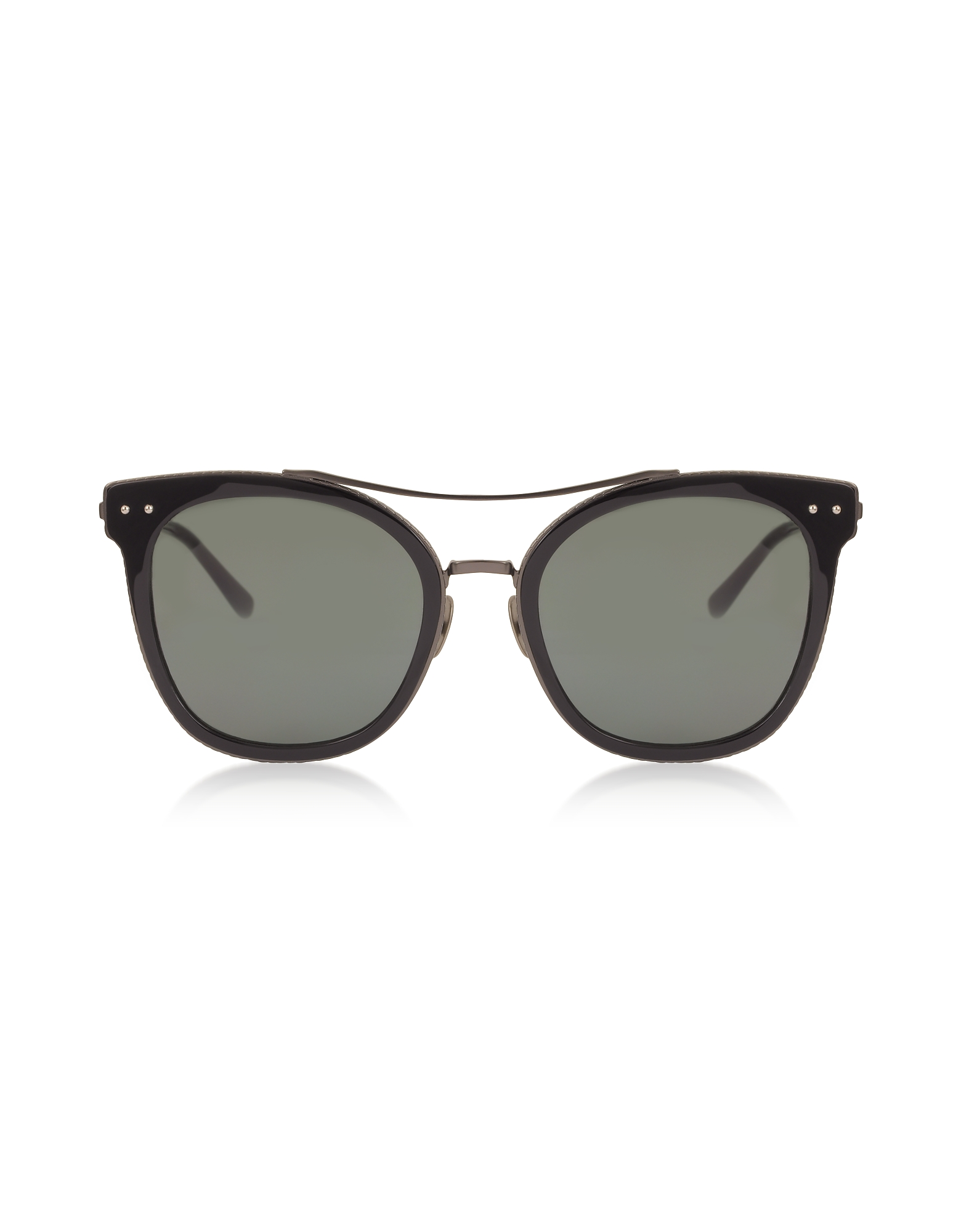 BV0064S 001 Black Metal Women's Sunglasses
