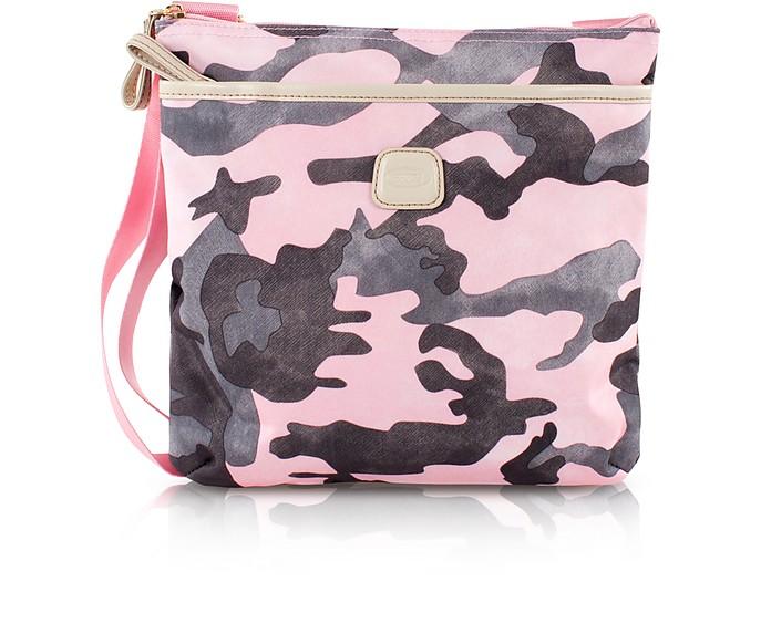 X-Bag Pink Camouflage Crossbody Bag - Bric's