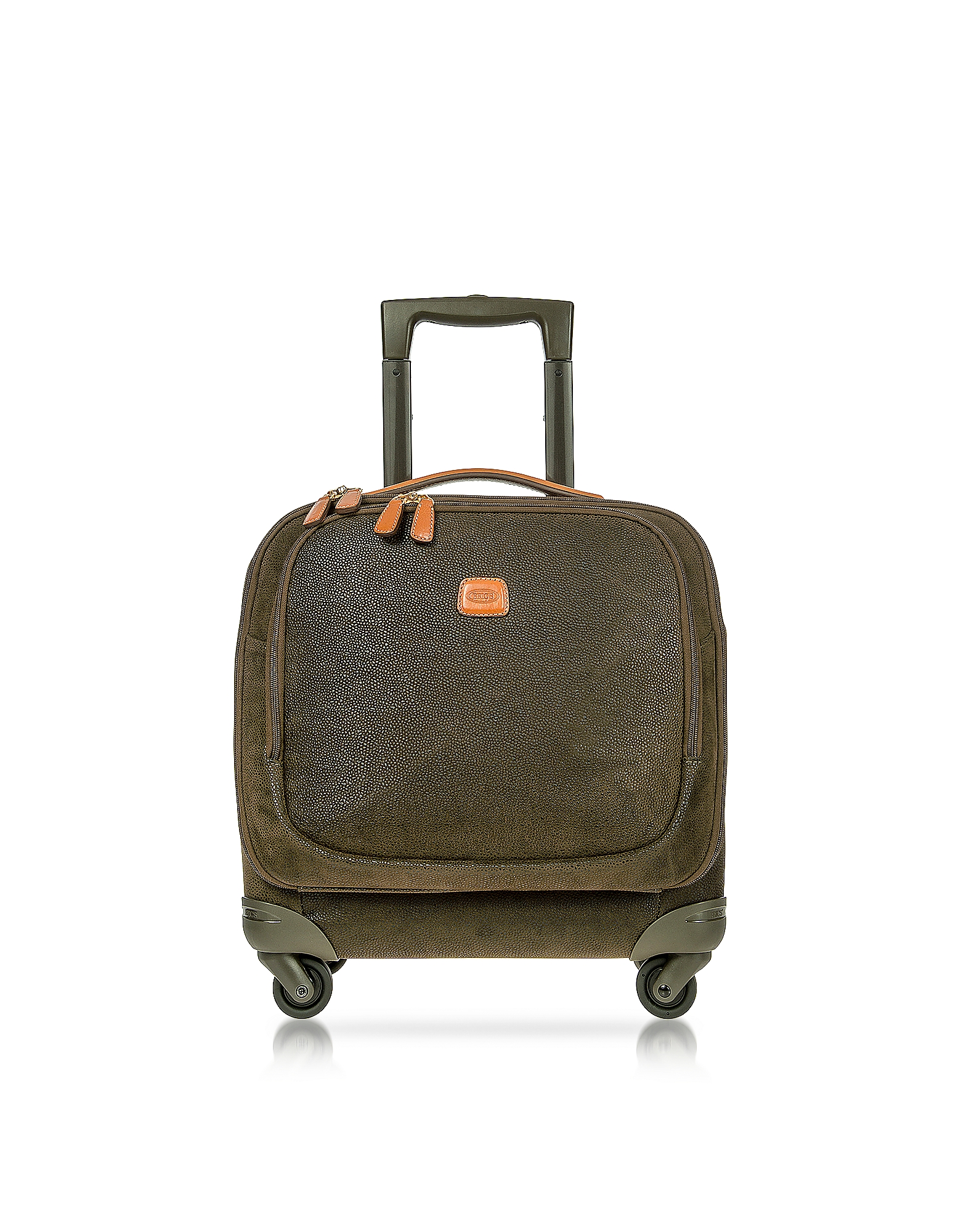 Bric's Travel Bags, Life Olive Green Micro Suede Small Pilot Cabin Spinner