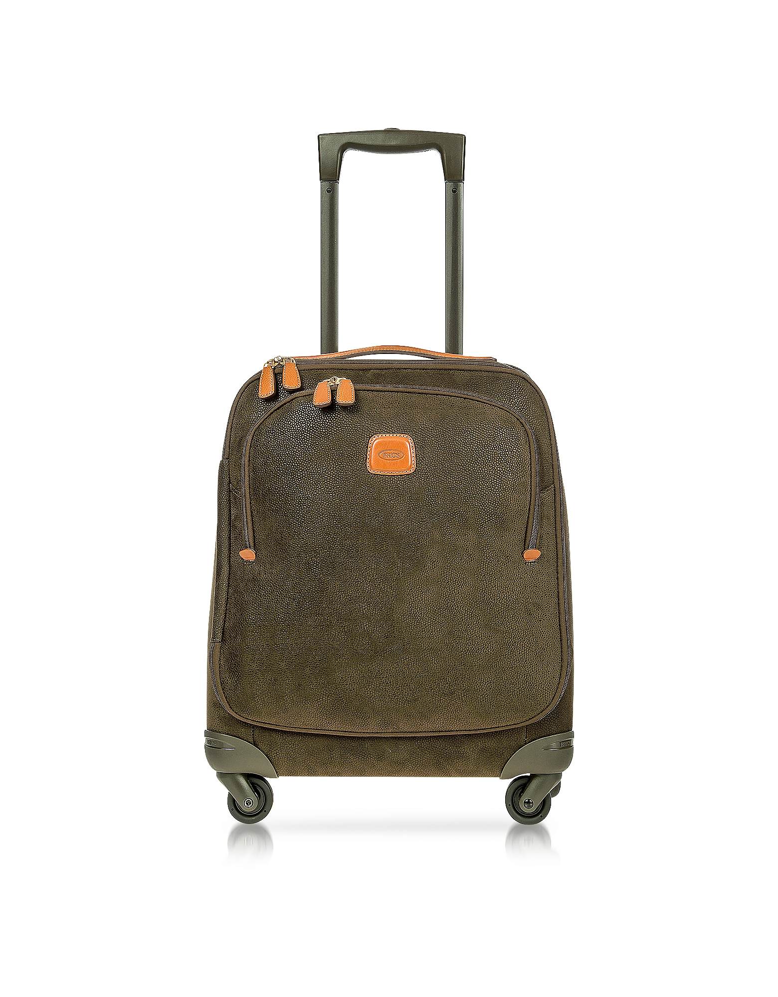 Bric's Travel Bags, Life Olive Green Micro Suede X-Small Trolley
