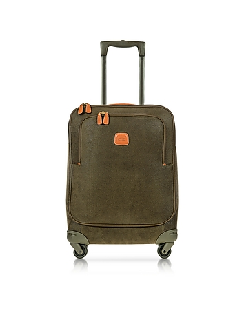 Life Olive Green Micro Suede Small Trolley