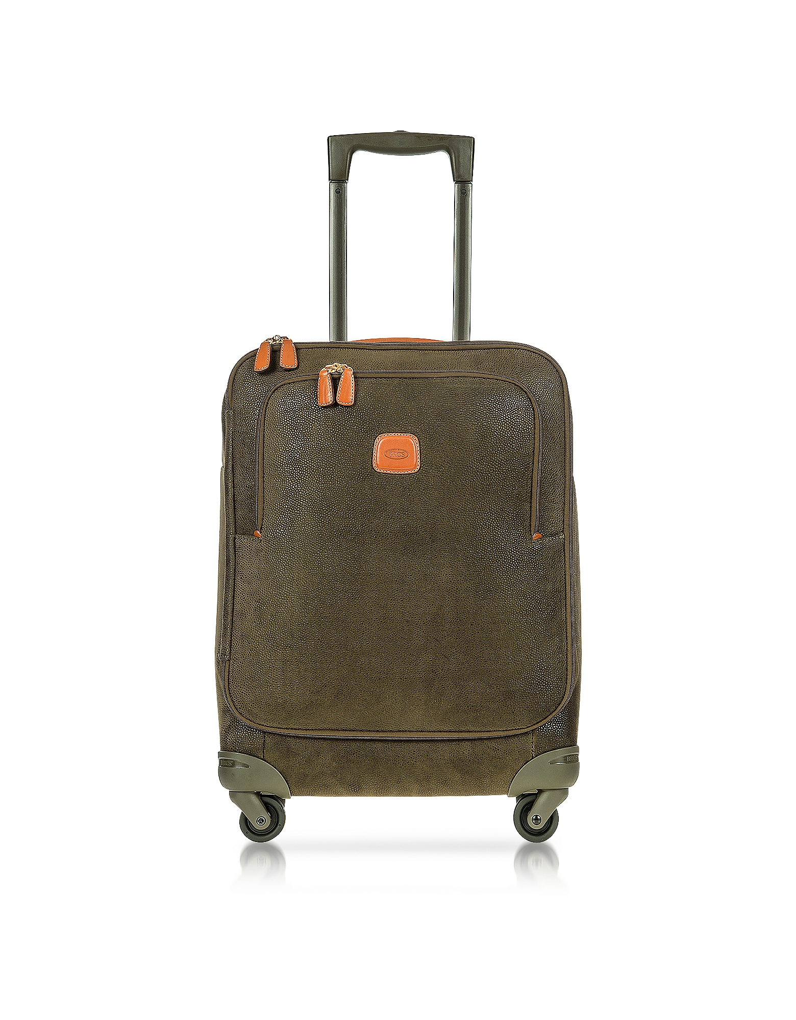 Bric's Travel Bags, Life Olive Green Micro Suede Small Trolley