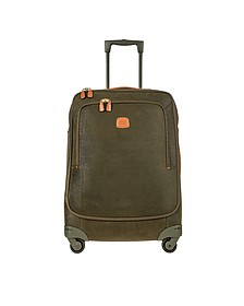 Life Olive Green Micro Suede Medium Trolley - Bric's