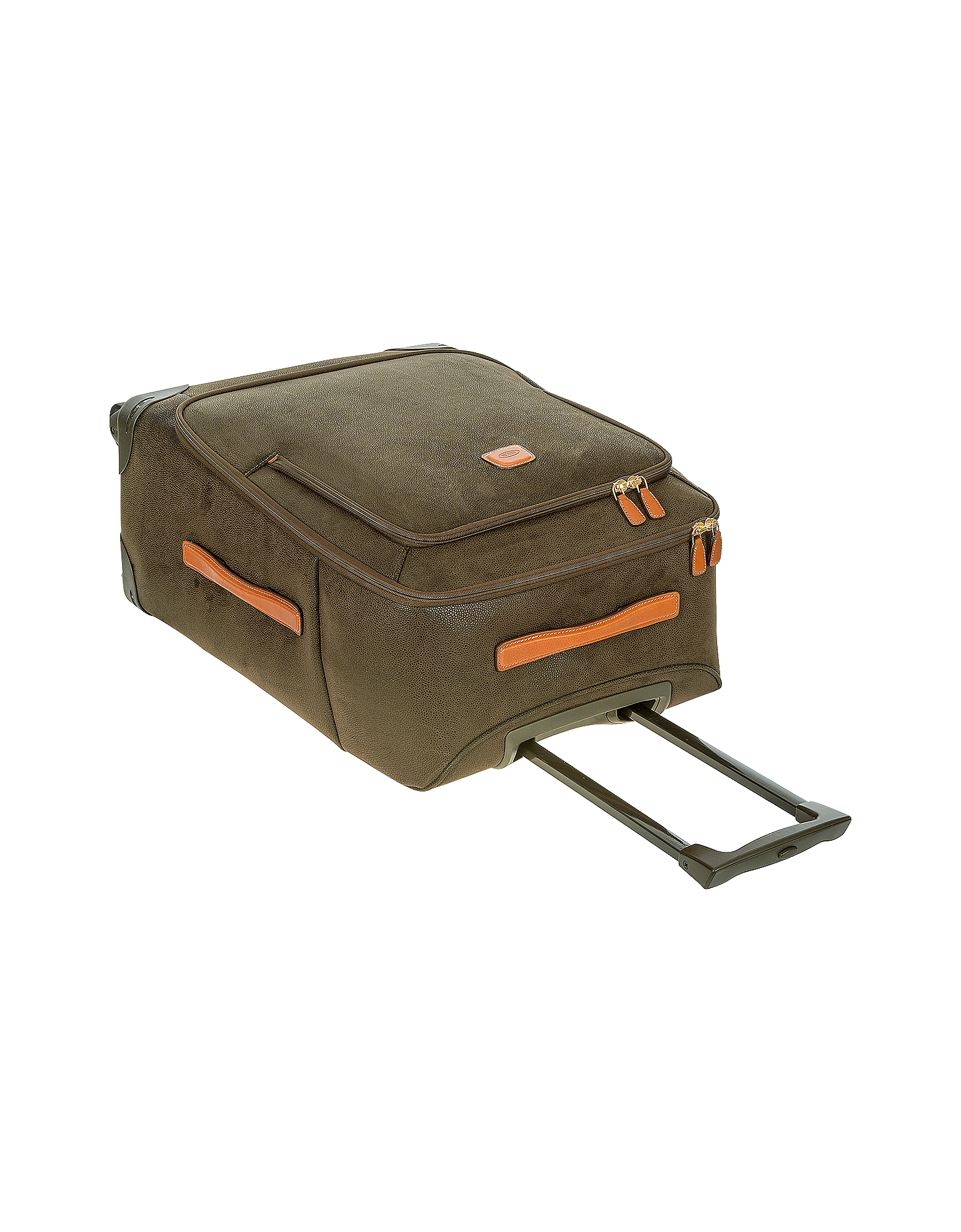Life Olive Green Micro Suede Medium Trolley от Forzieri.com INT