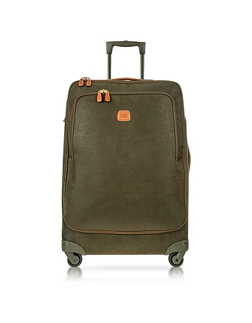 Life Olive Green Micro Suede Large Trolley