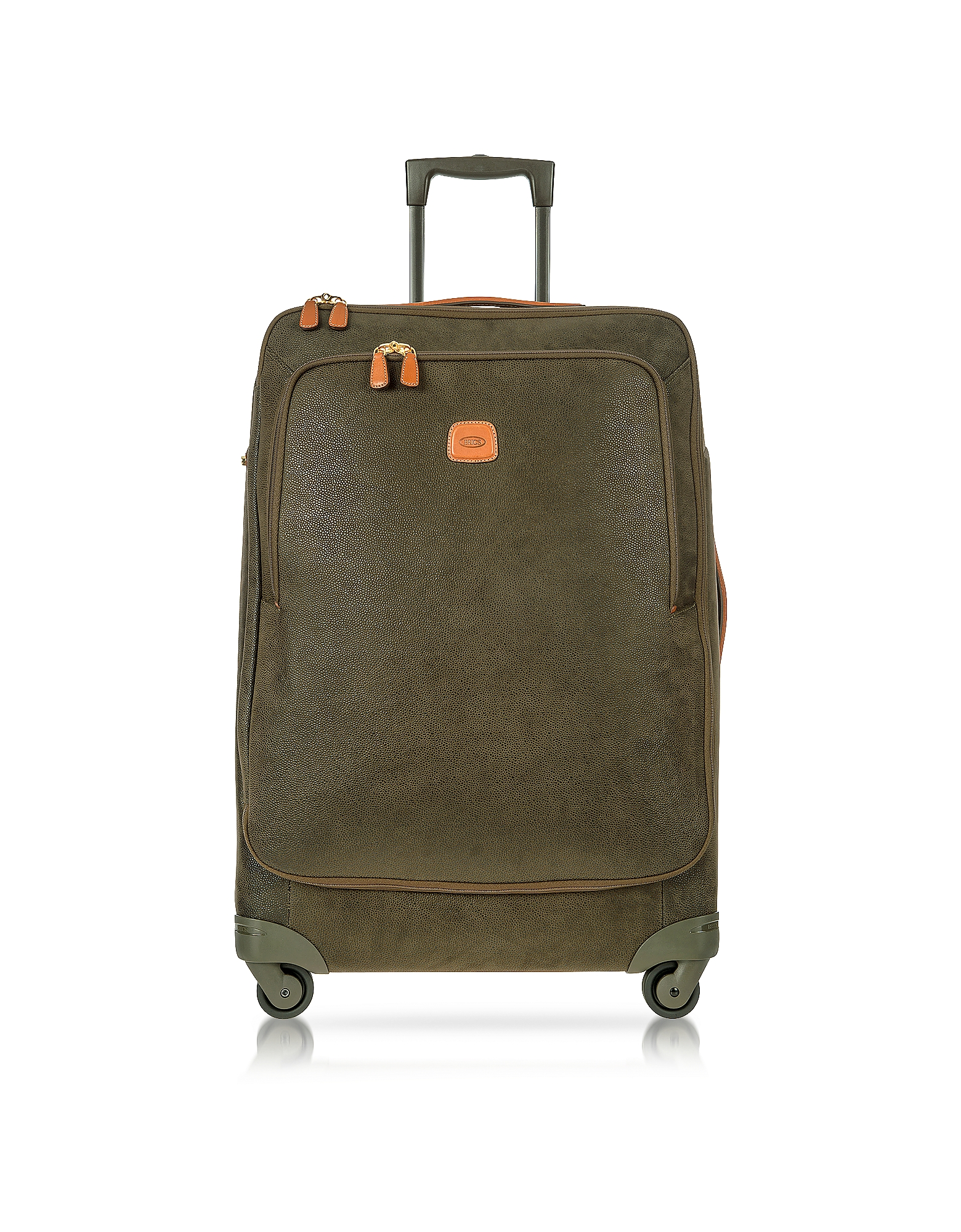 Bric's Travel Bags, Life Olive Green Micro Suede Large Trolley