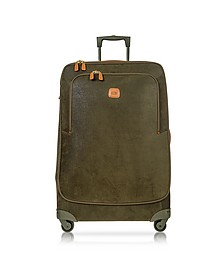 Life Olive Green Micro Suede X-Large Trolley - Bric's