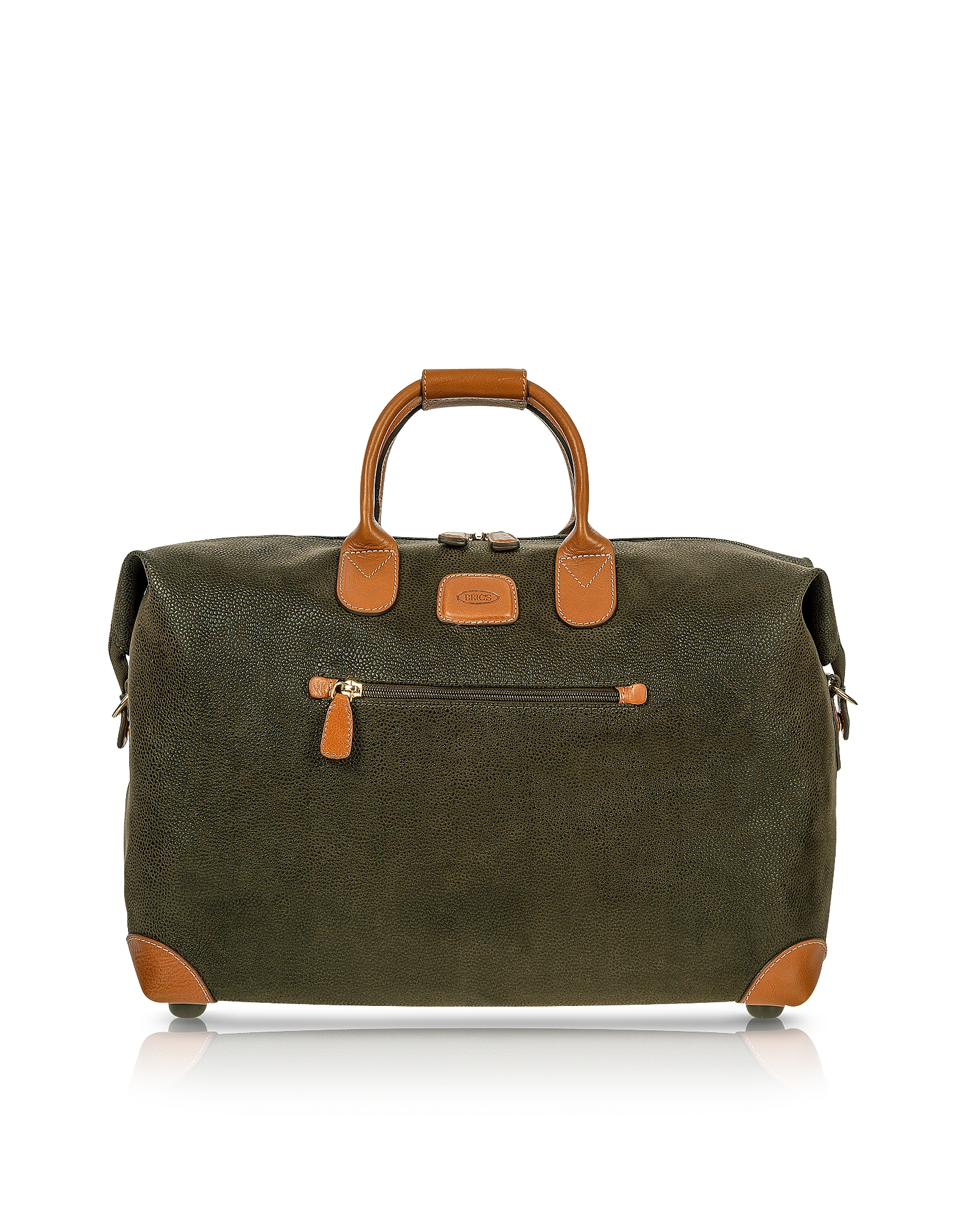 """Bric's Travel Bags, Life - Olive Green Micro Suede 18"""" Carry-on Holdall"""
