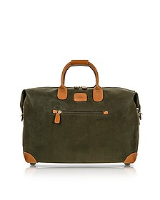 "Life - Olive Green Micro Suede 18"" Carry-on Holdall - Bric's"