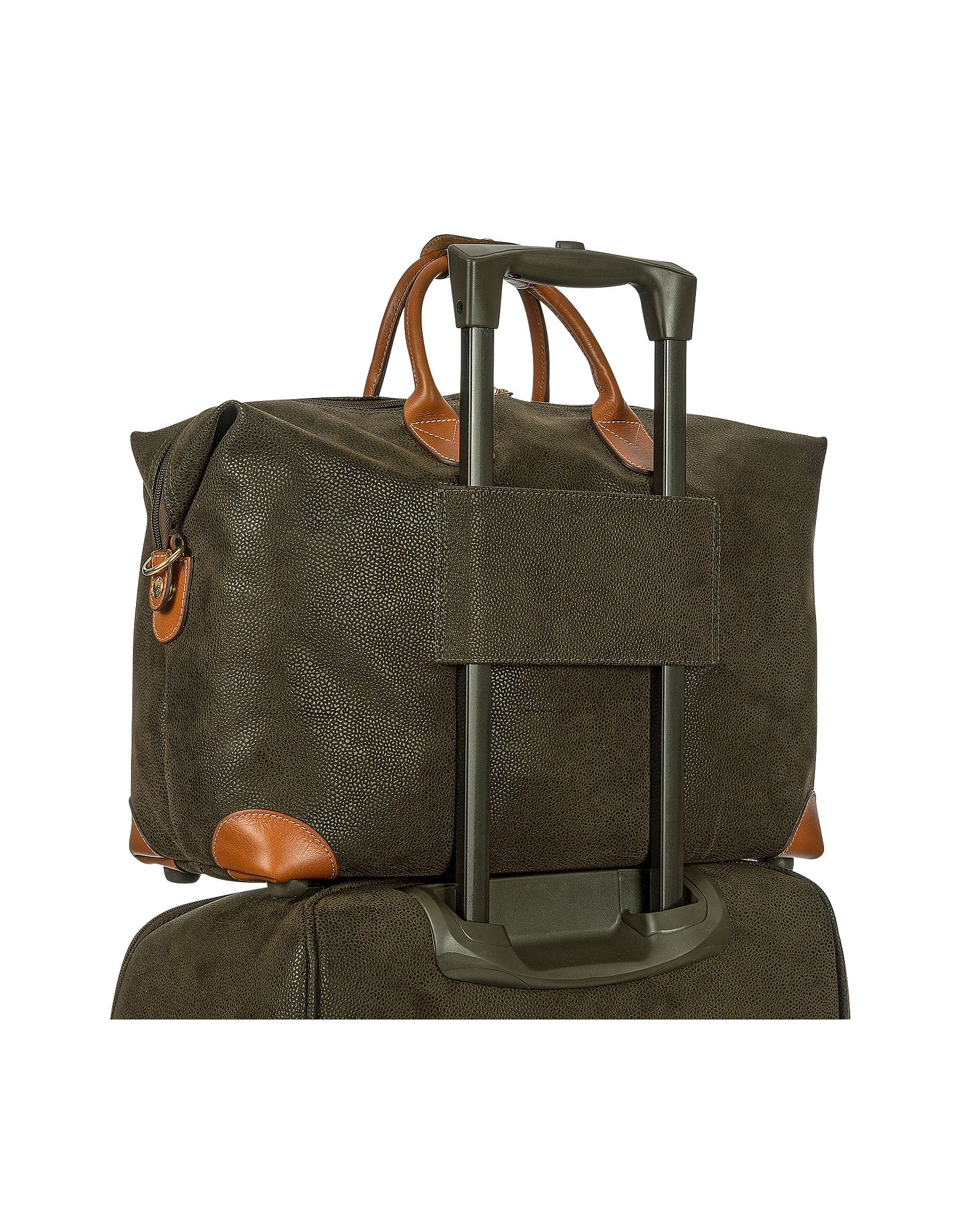 "Life - Olive Green Micro Suede 18"" Carry-on Holdall от Forzieri.com INT"