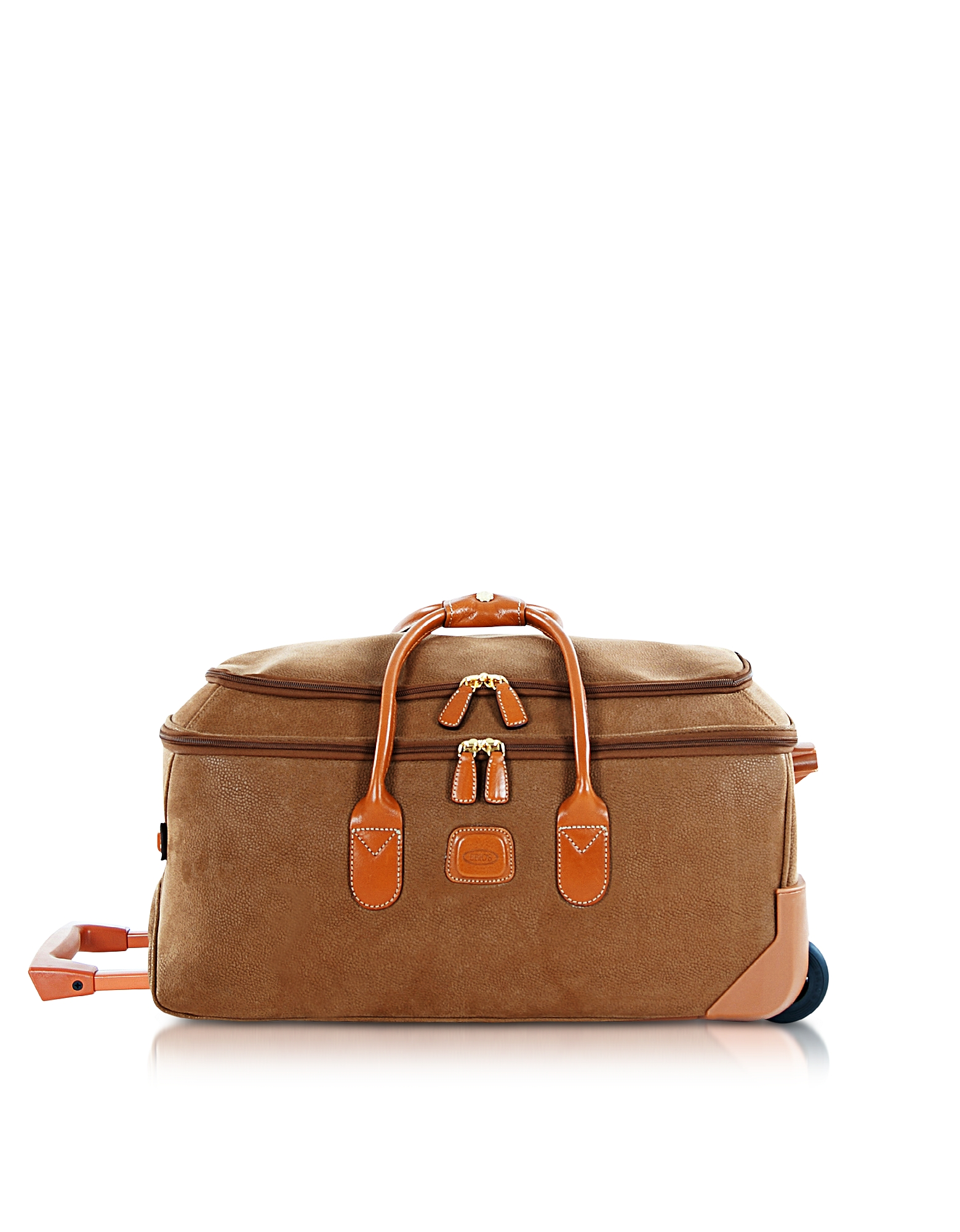 Bric's Travel Bags, Life - Medium Camel Micro Suede Rolling Duffle Bag