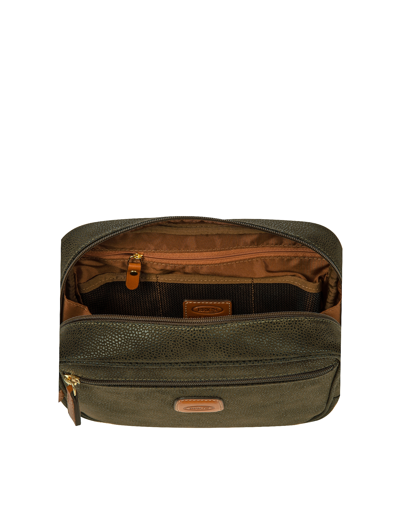 Life - Olive Green Micro Suede Travel Case от Forzieri.com INT