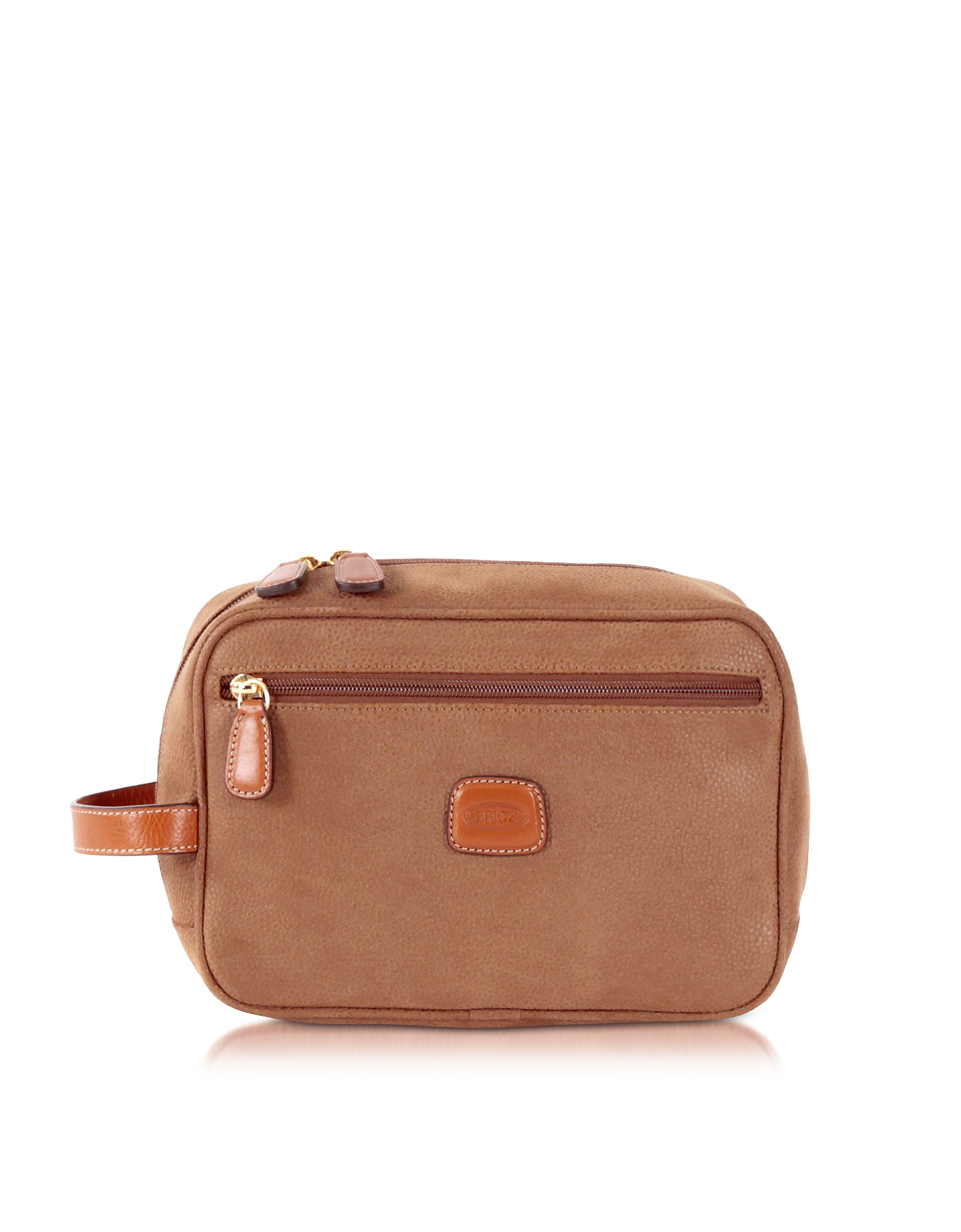 Life - Beauty Case in Micro Suede Renna